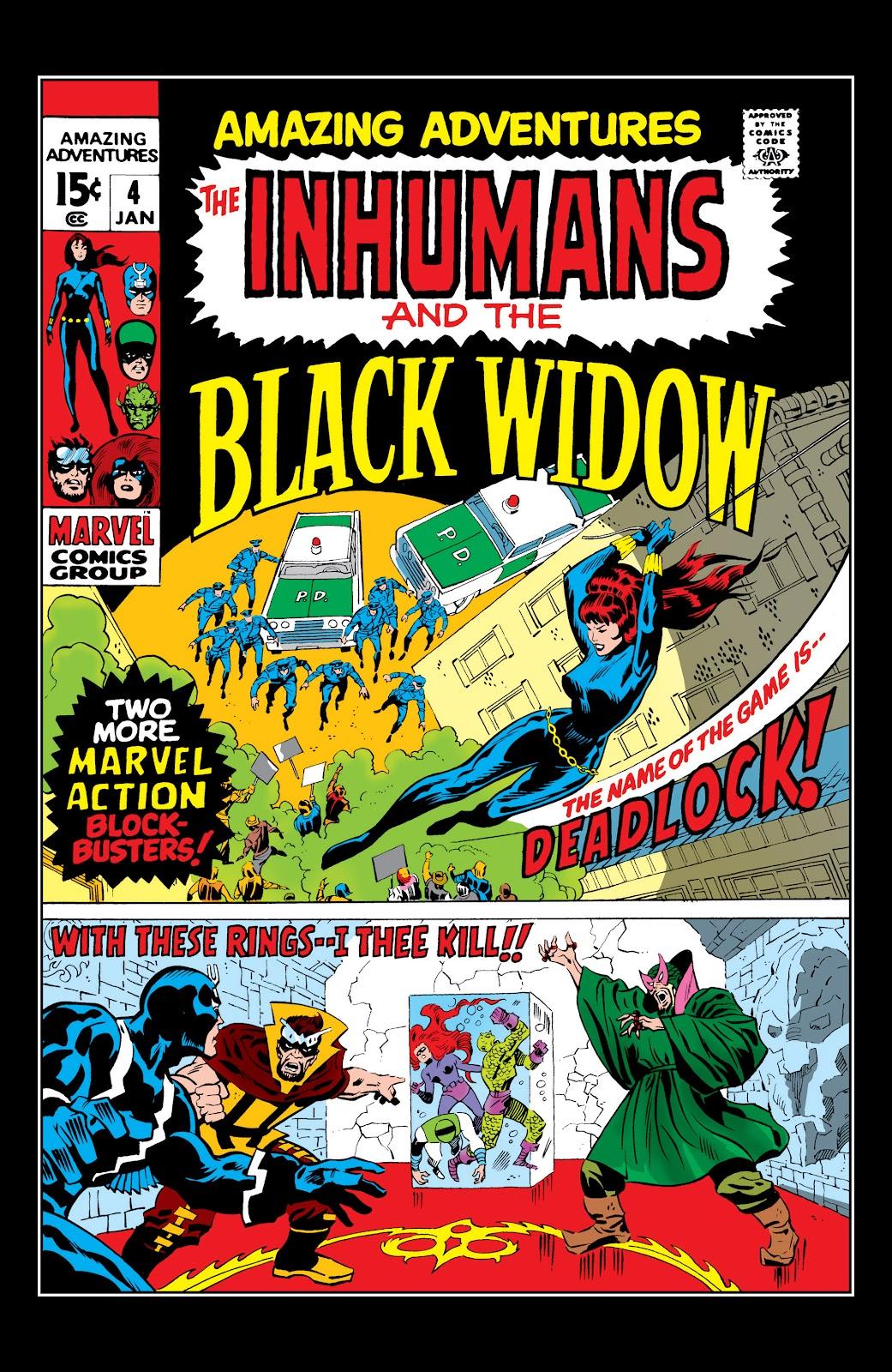Read online Marvel Masterworks: The Inhumans comic -  Issue # TPB 1 (Part 2) - 2