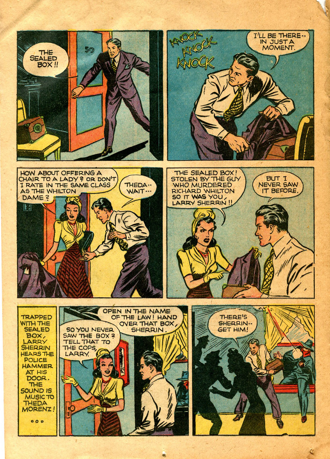 Read online Shadow Comics comic -  Issue #9 - 22