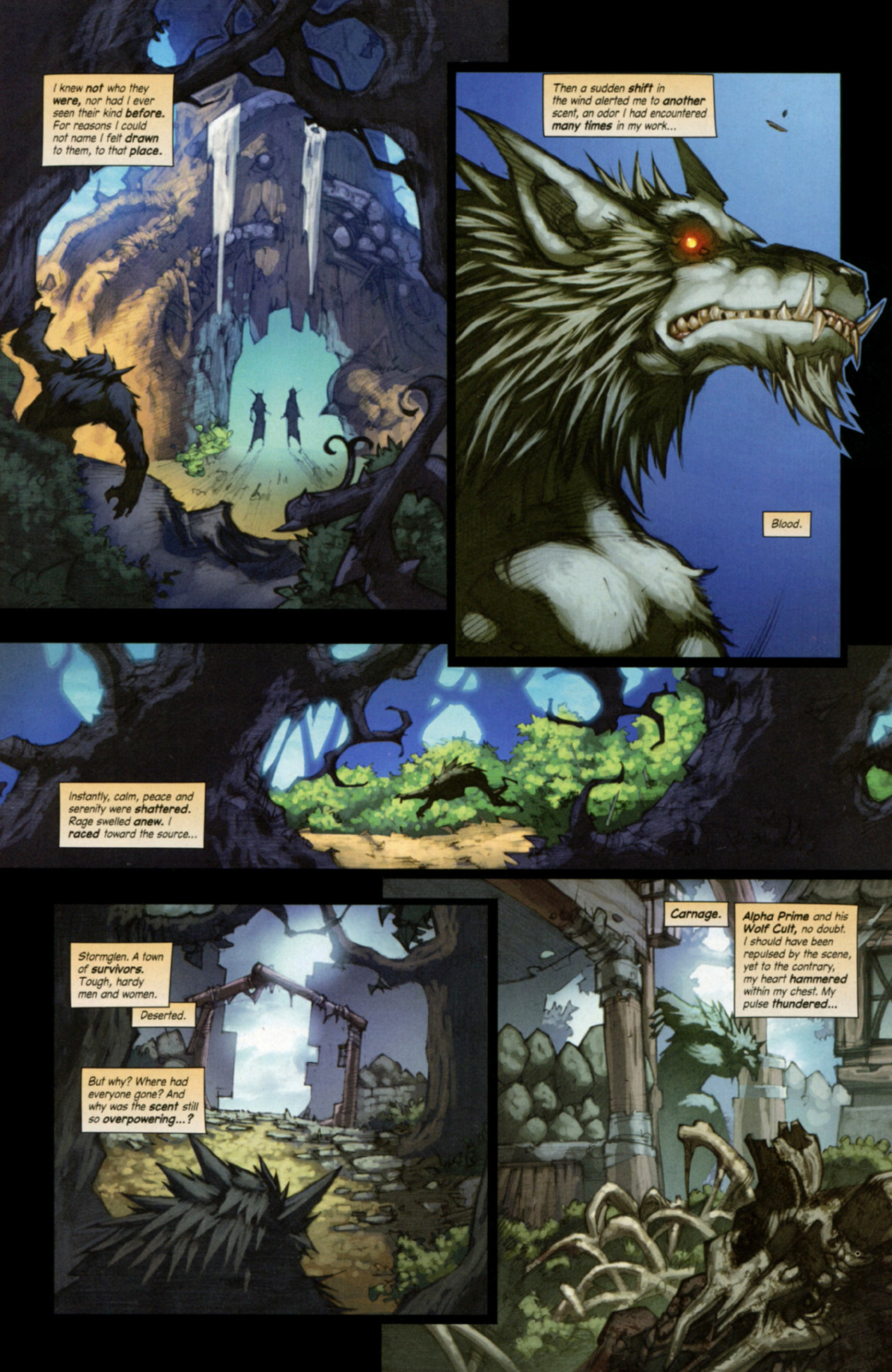 Read online World of Warcraft: Curse of the Worgen comic -  Issue #3 - 4