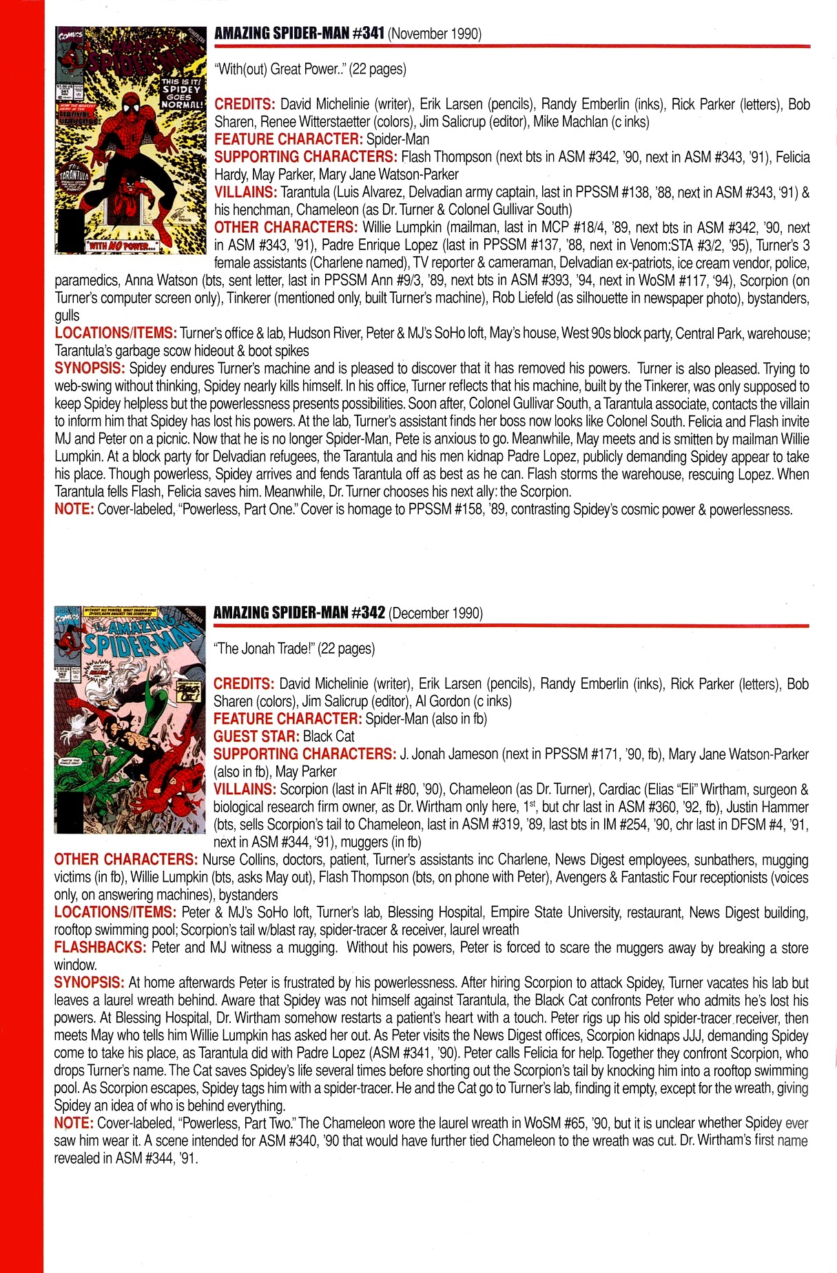 Read online Official Index to the Marvel Universe comic -  Issue #8 - 10