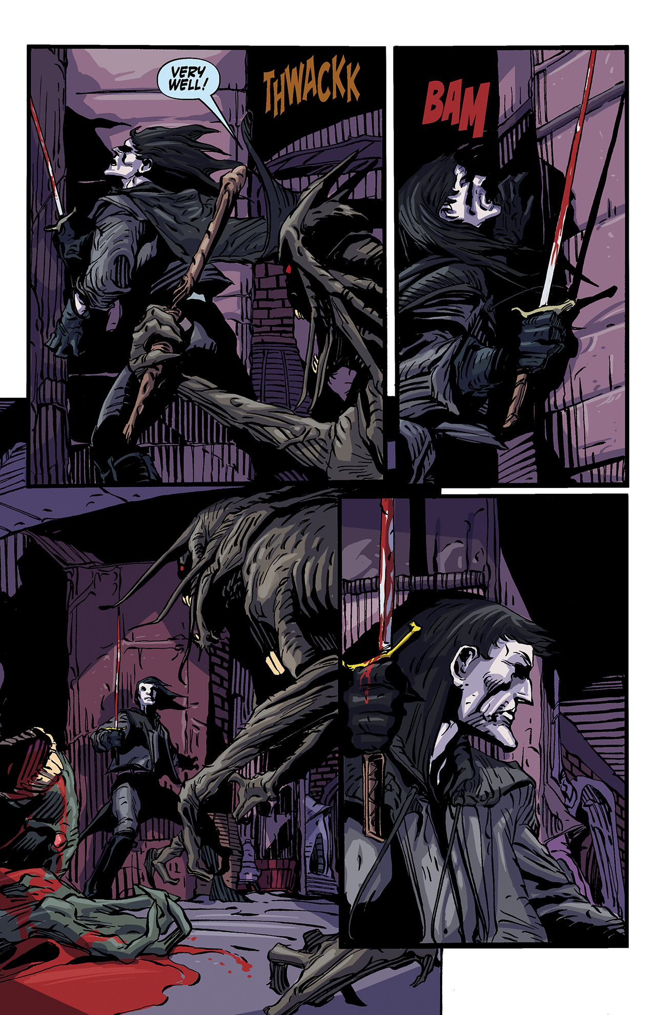 Read online Solomon Kane: Death's Black Riders comic -  Issue #4 - 12