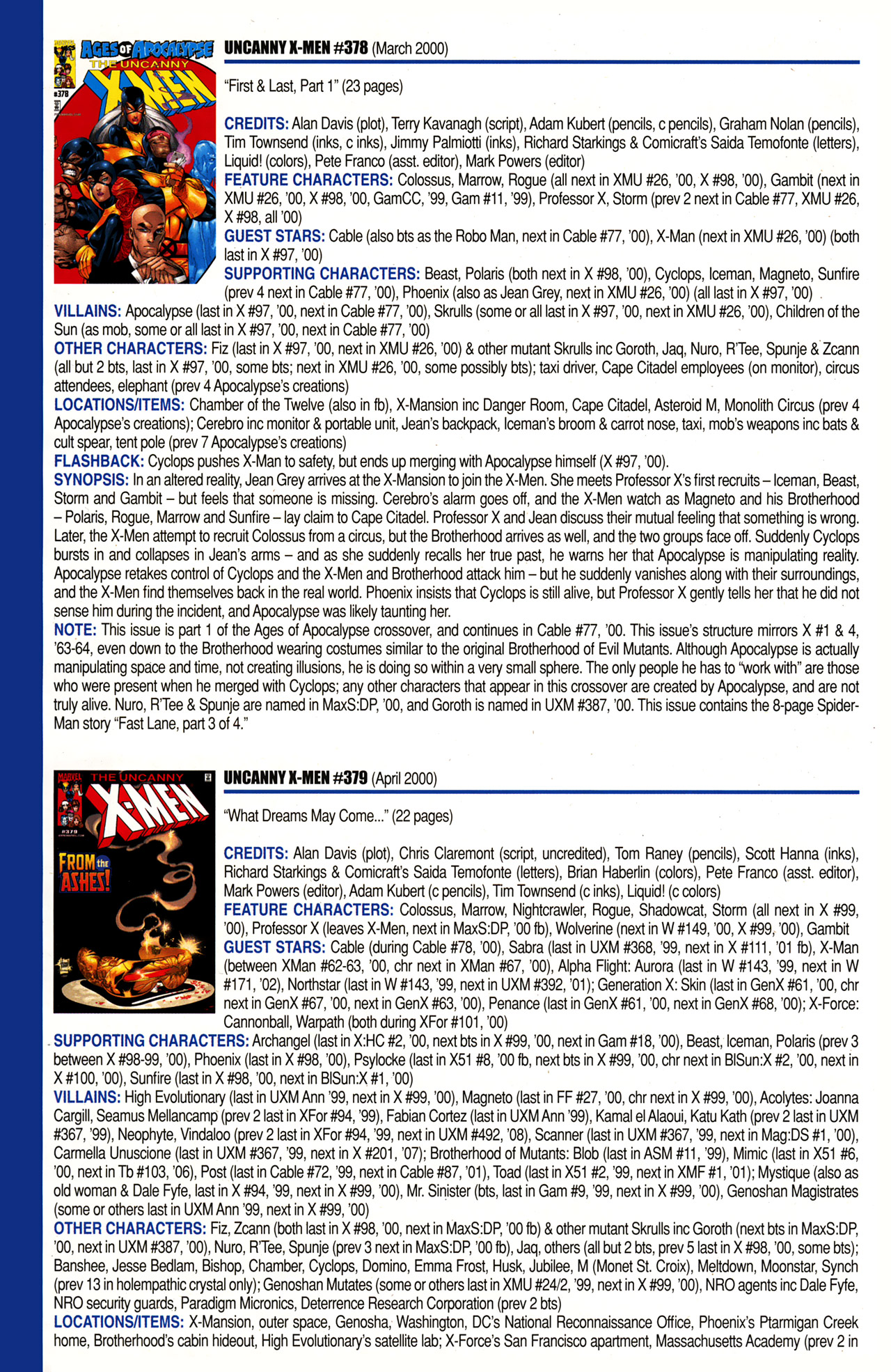 Read online Official Index to the Marvel Universe comic -  Issue #10 - 48