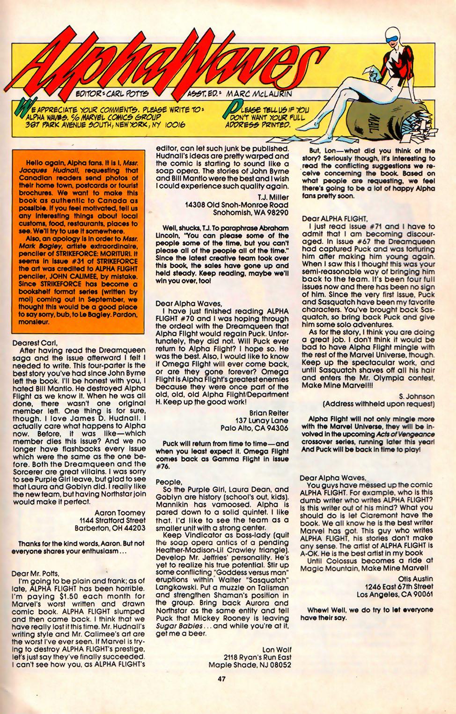 Read online Alpha Flight (1983) comic -  Issue #75 - 41