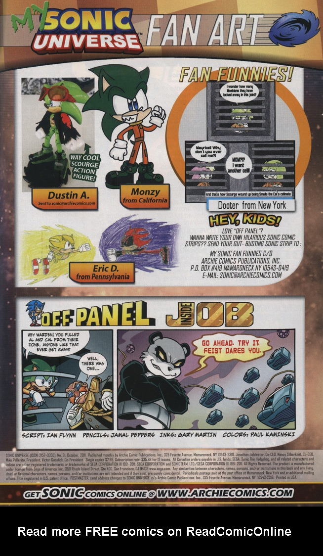 Read online Sonic Universe comic -  Issue #31 - 33