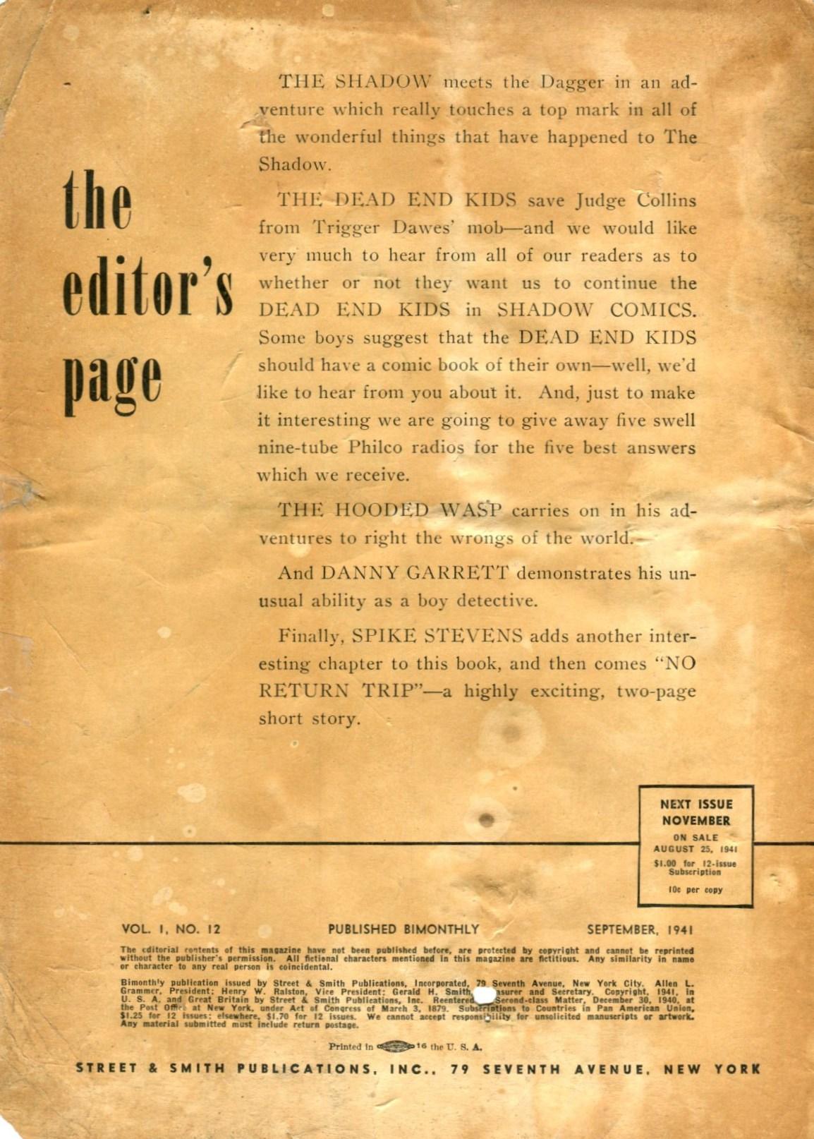 Read online Shadow Comics comic -  Issue #12 - 2