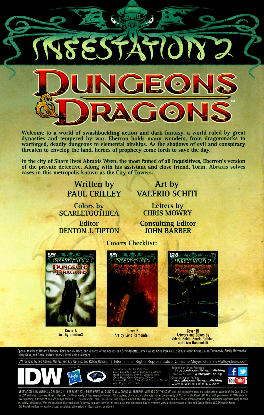 Read online Infestation 2: Dungeons & Dragons comic -  Issue #1 - 3
