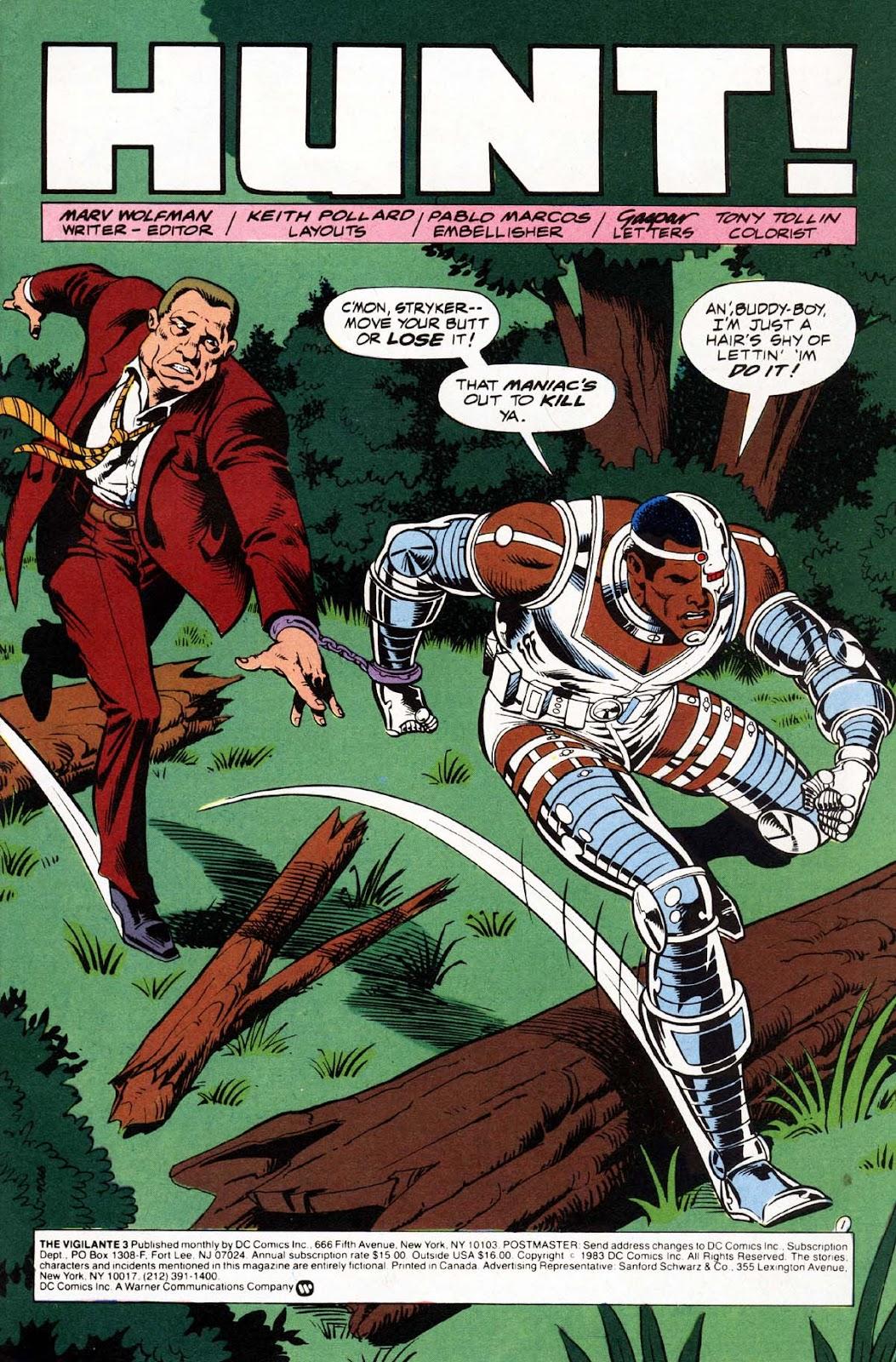Vigilante (1983) issue 3 - Page 2