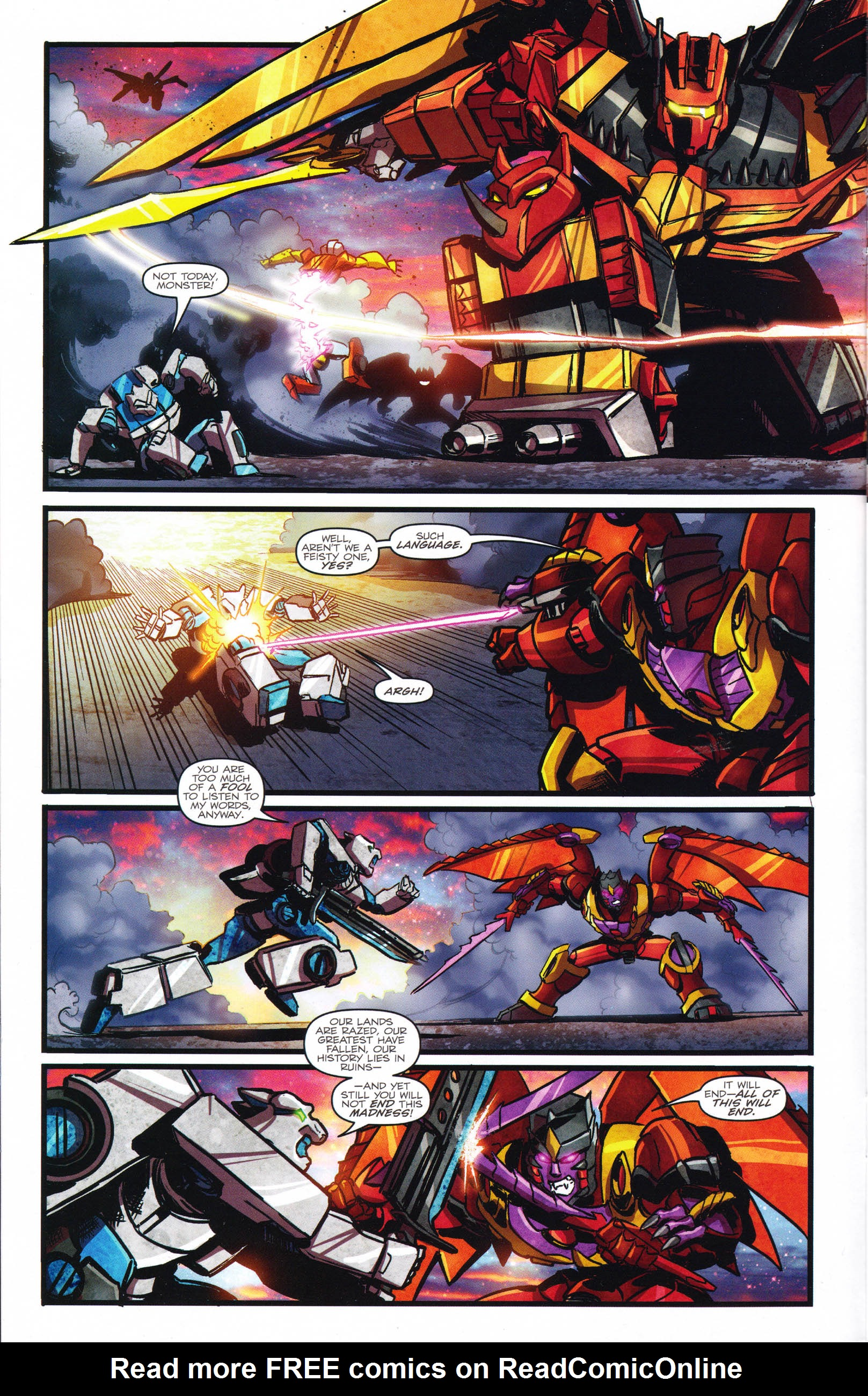 Read online Transformers: Dawn of the Predacus comic -  Issue # Full - 11