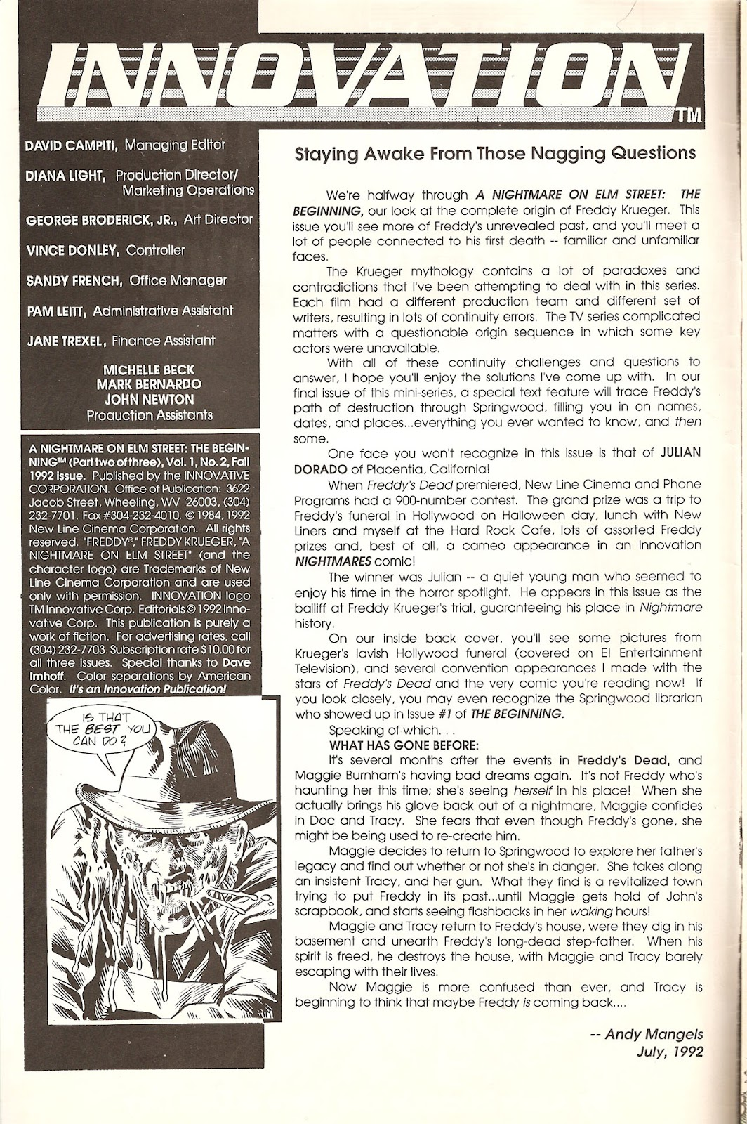 Read online A Nightmare on Elm Street: The Beginning comic -  Issue #2 - 2
