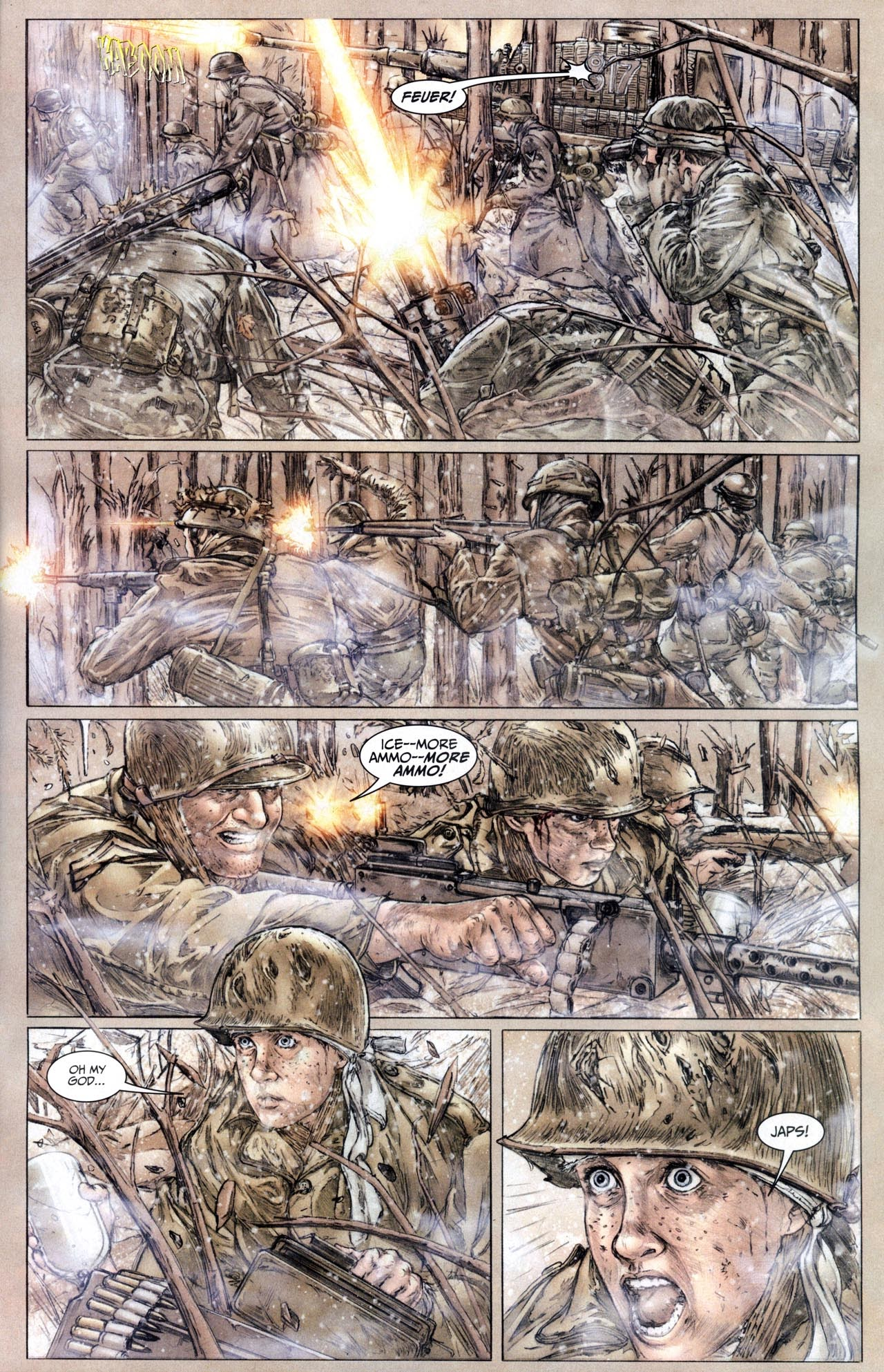 Read online Sgt. Rock: The Lost Battalion comic -  Issue #6 - 7