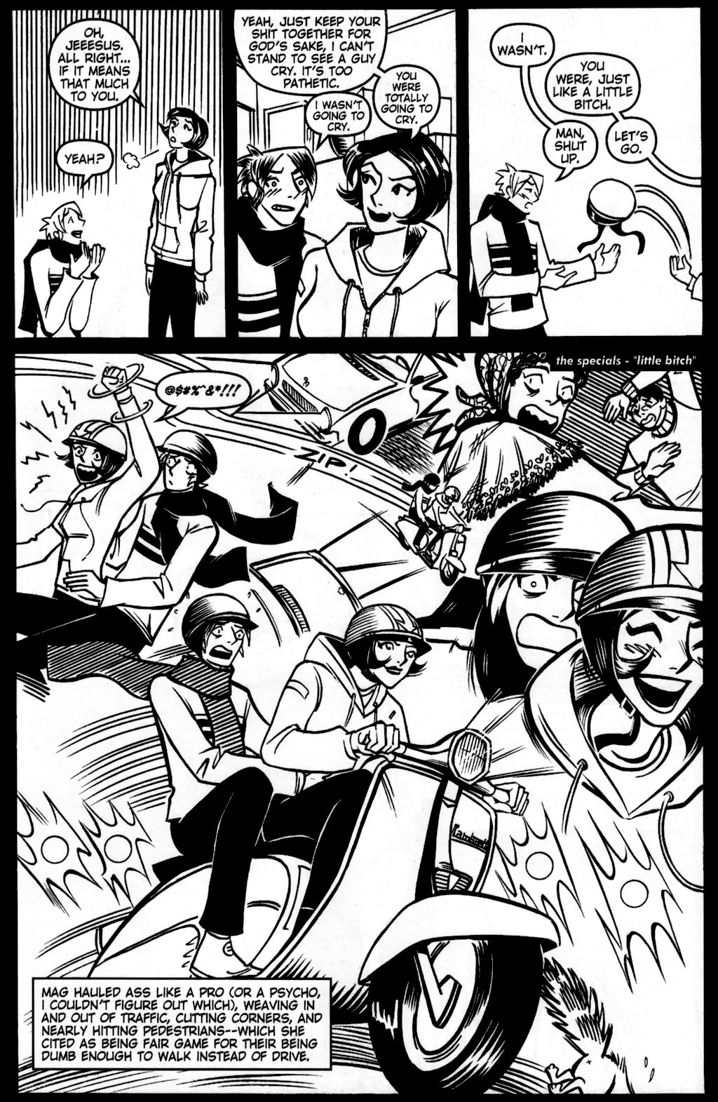 Read online Scooter Girl comic -  Issue #5 - 9