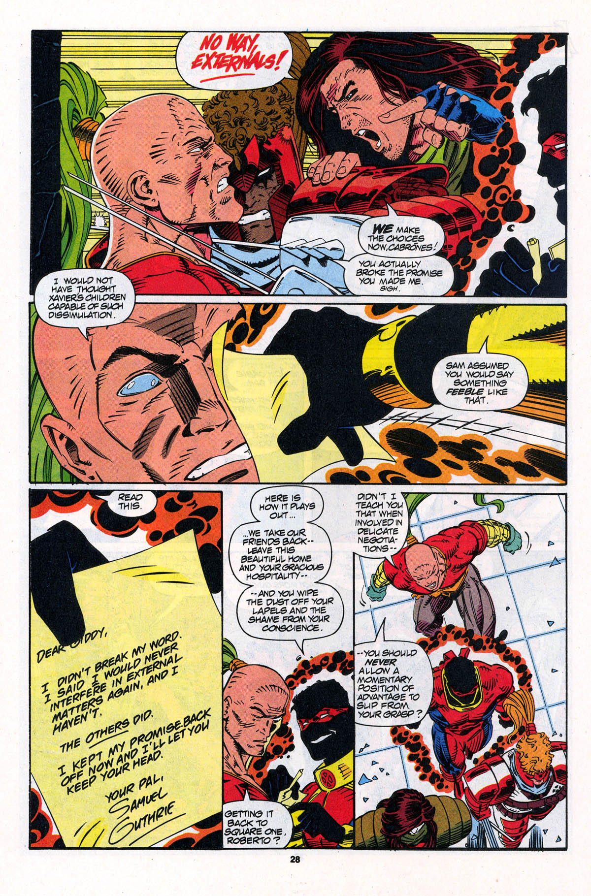 Read online X-Force (1991) comic -  Issue #23 - 28