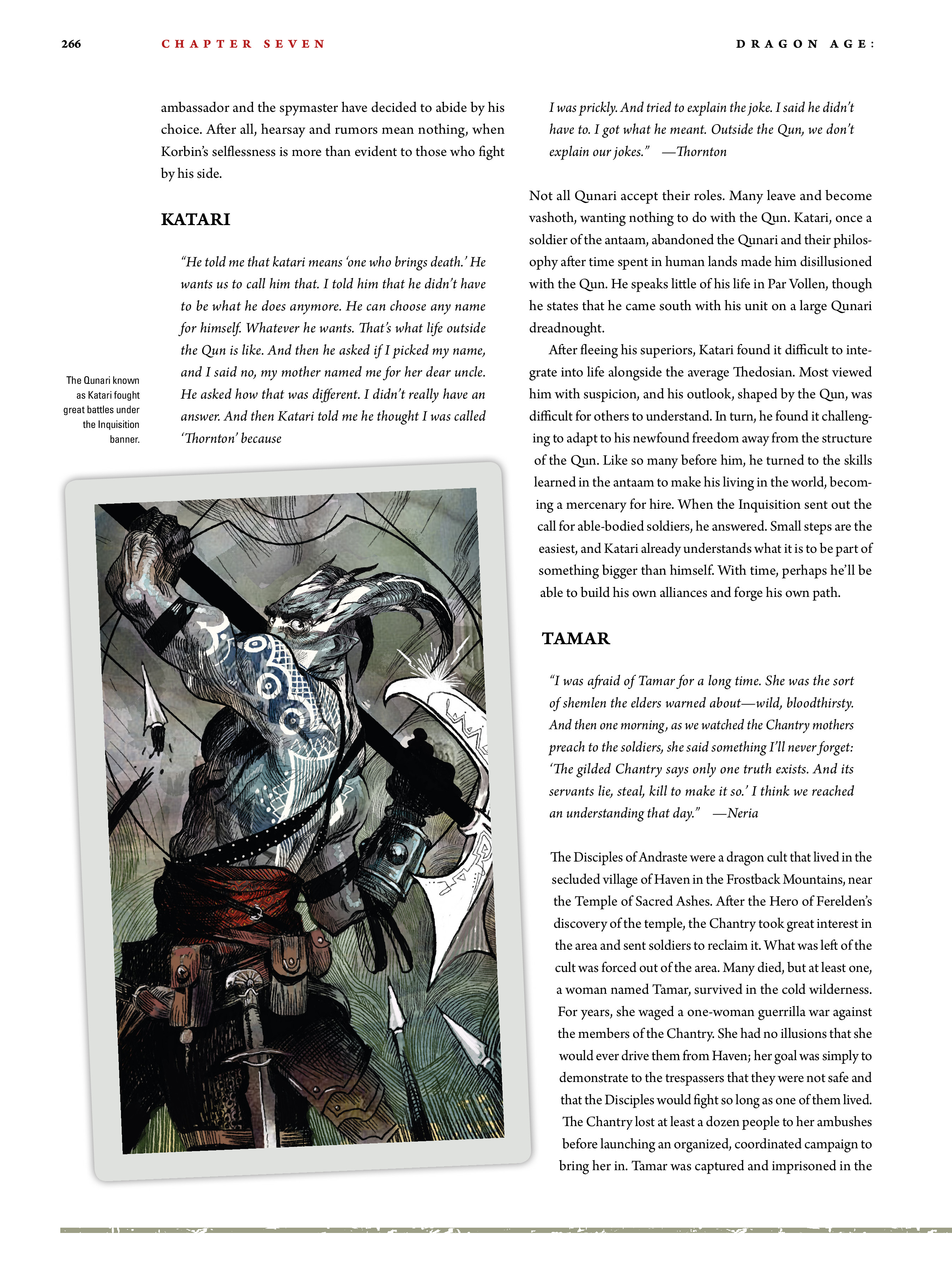 Read online Dragon Age: The World of Thedas comic -  Issue # TPB 2 - 259