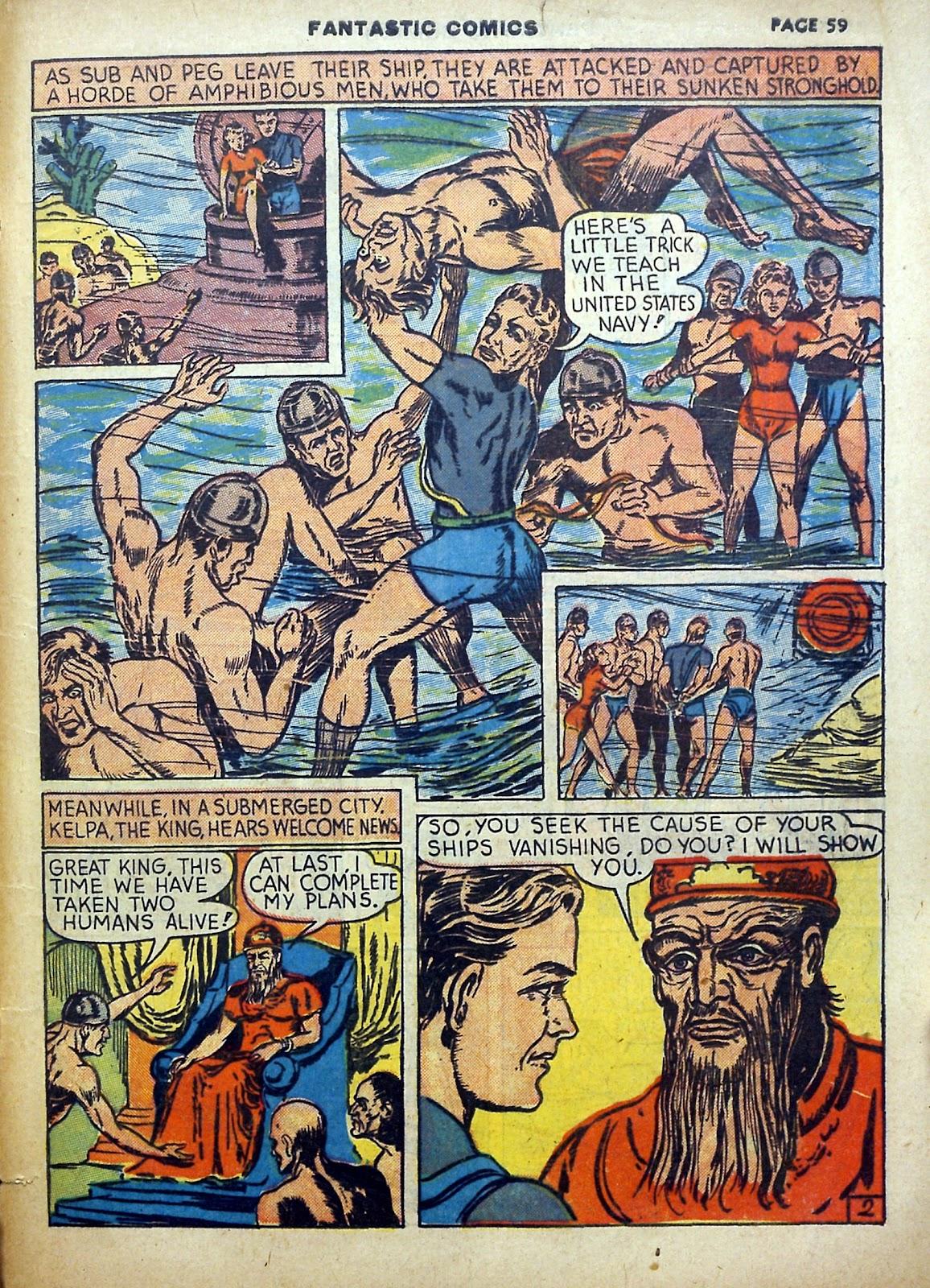 Read online Fantastic Comics comic -  Issue #5 - 60