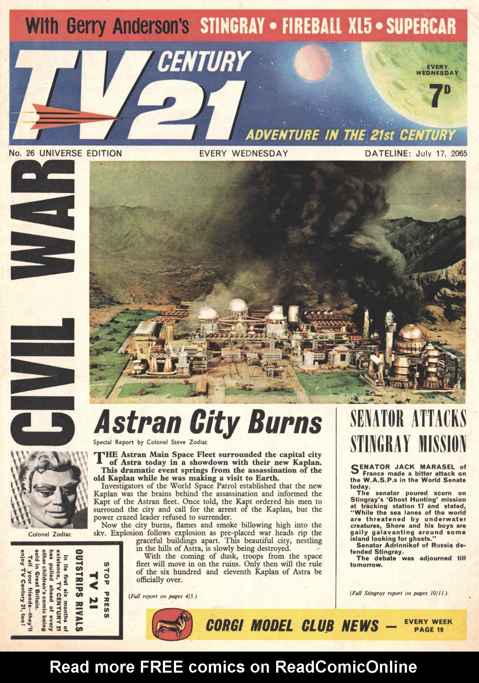 Read online TV Century 21 (TV 21) comic -  Issue #26 - 1