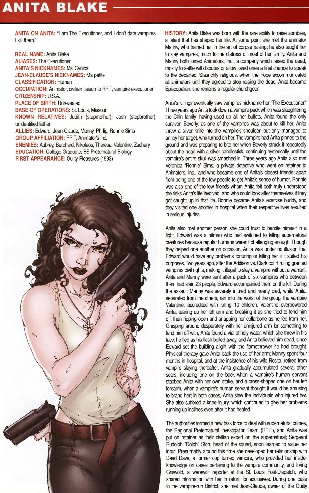 Read online Anita Blake, Vampire Hunter: Guilty Pleasures Handbook comic -  Issue #Anita Blake, Vampire Hunter: Guilty Pleasures Handbook Full - 8