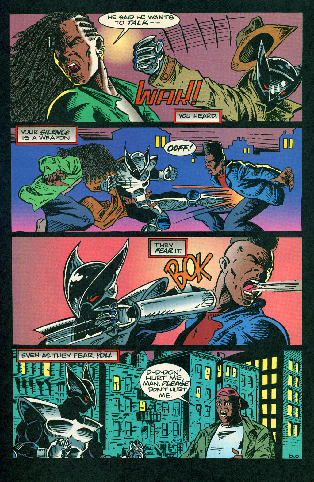 Read online ShadowHawk comic -  Issue #1 - 5