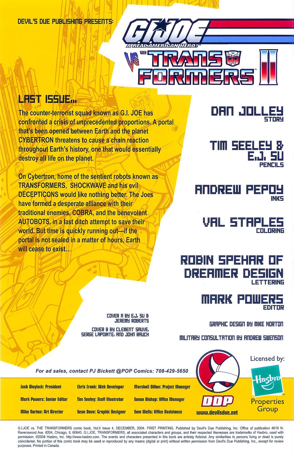 G.I. Joe vs. The Transformers II Issue #4 #5 - English 2