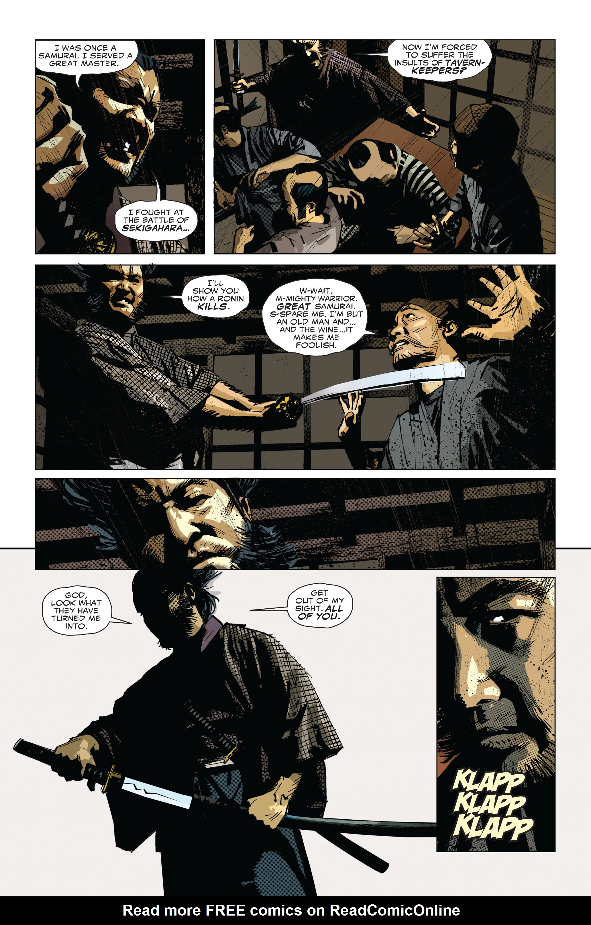 Read online 5 Ronin (2011) comic -  Issue #1 - 12