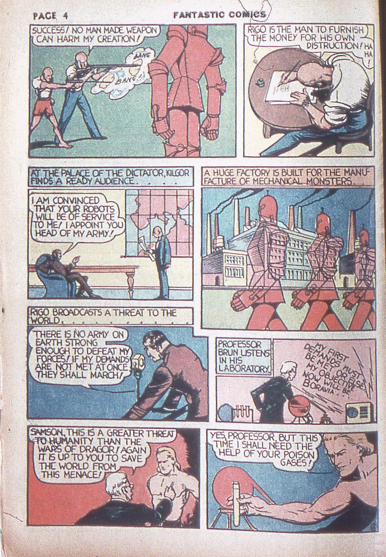 Read online Fantastic Comics comic -  Issue #4 - 6