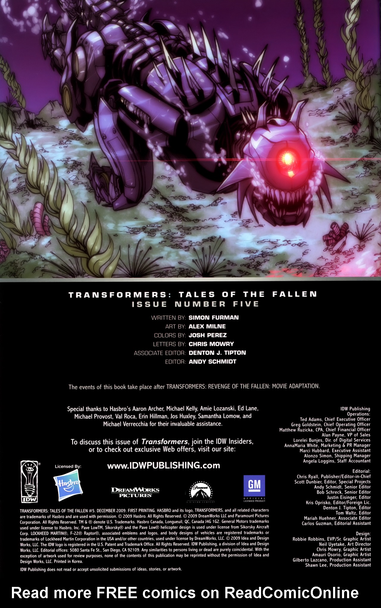 Read online Transformers: Tales of The Fallen comic -  Issue #5 - 2