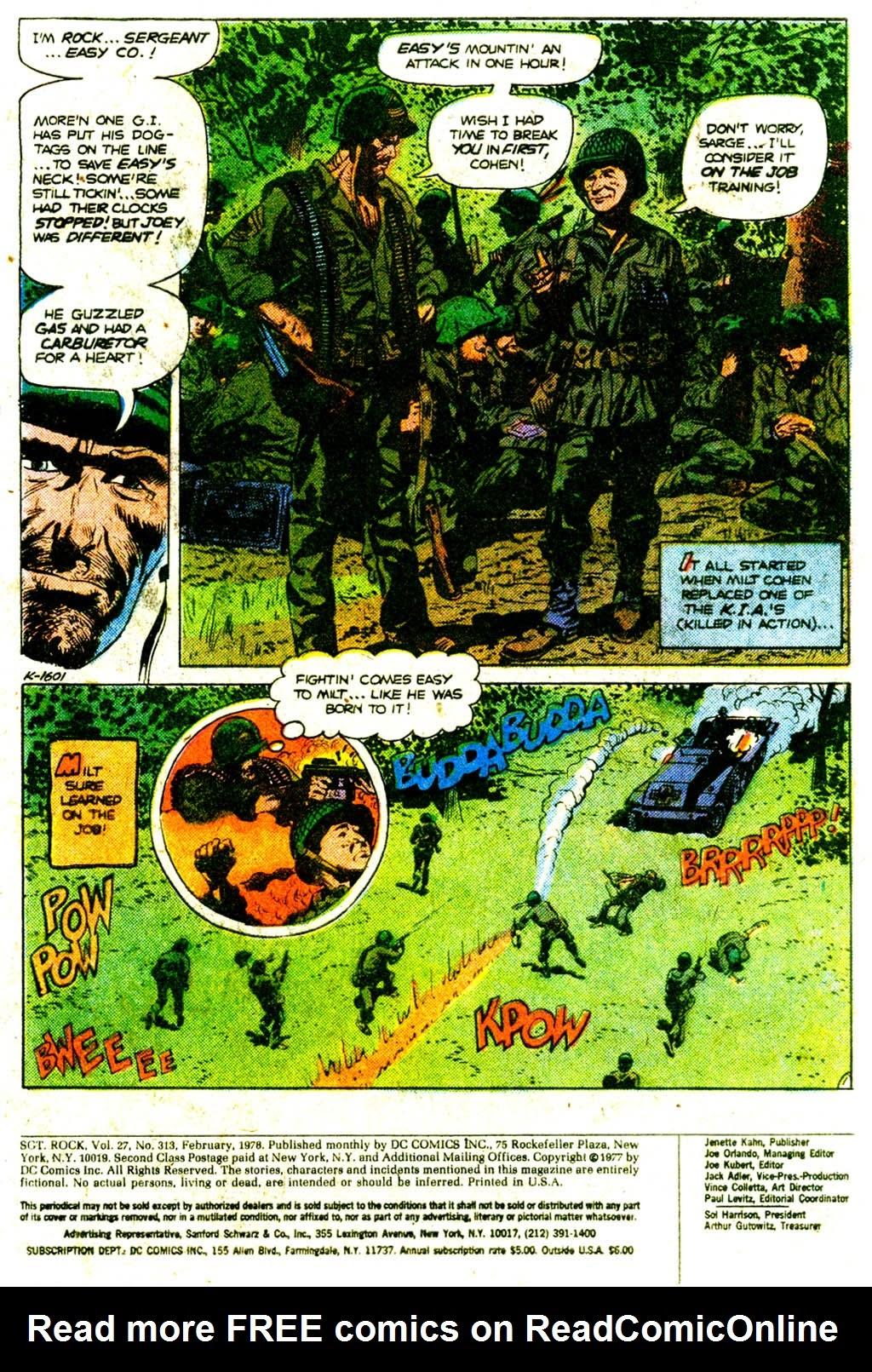 Read online Sgt. Rock comic -  Issue #313 - 3