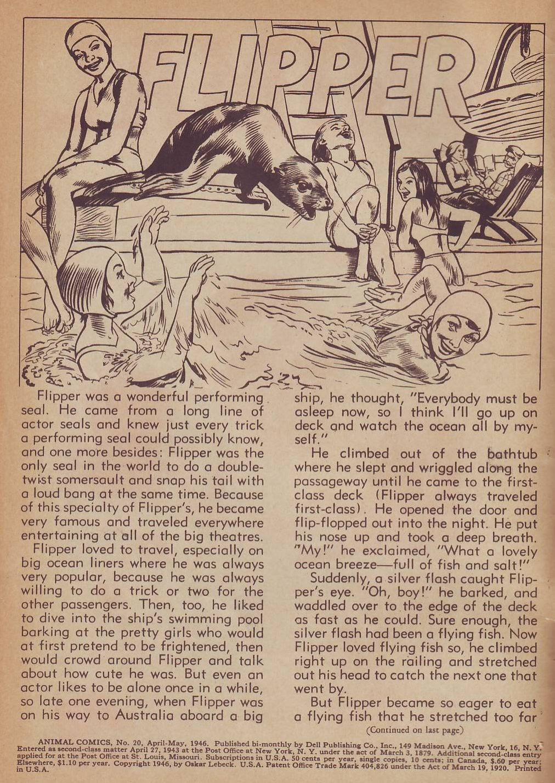 Read online Animal Comics comic -  Issue #20 - 2