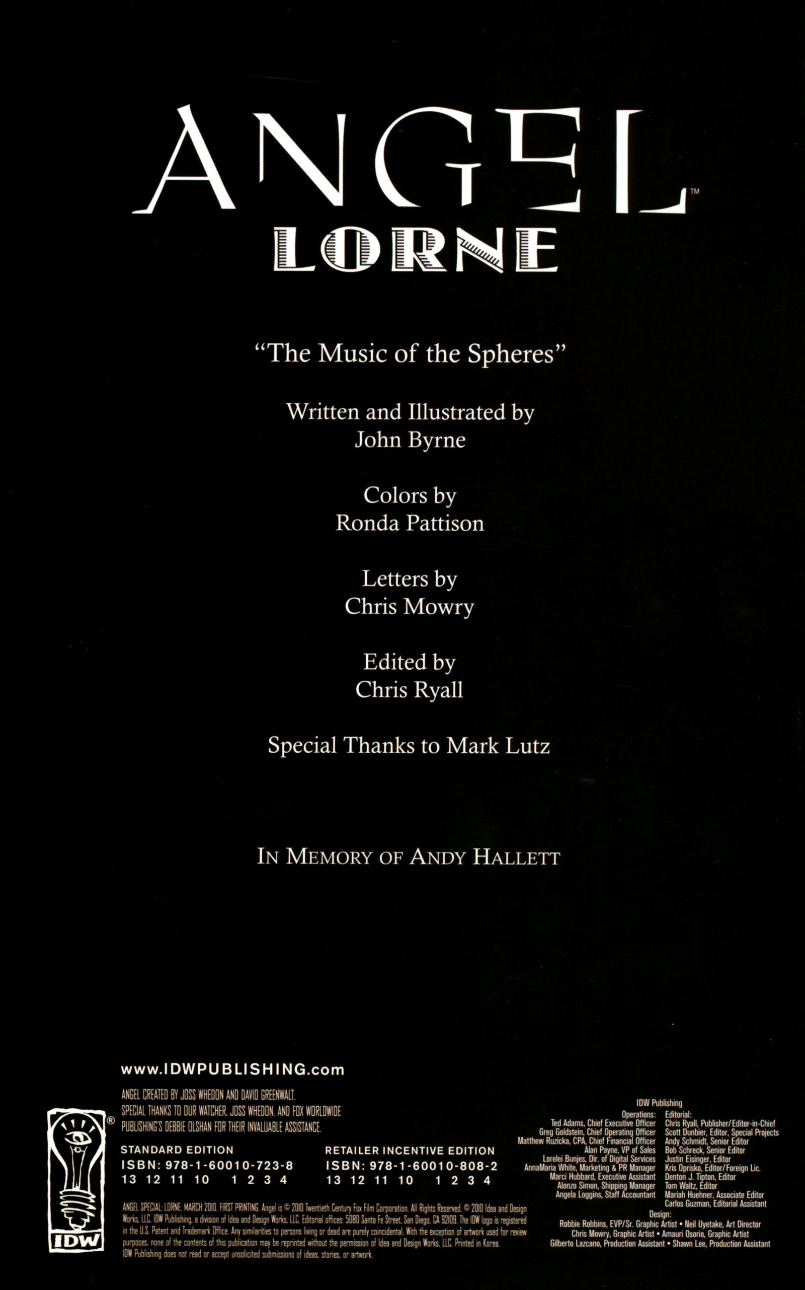 Read online Angel Special: Lorne comic -  Issue # Full - 2