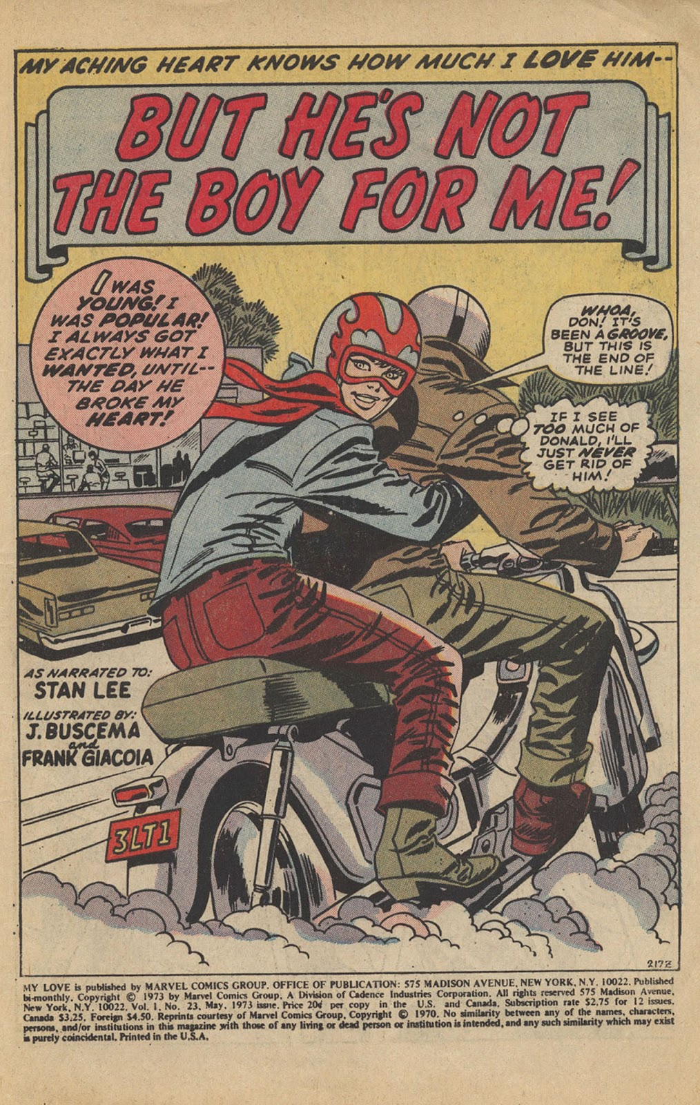 My Love (1969) issue 23 - Page 3