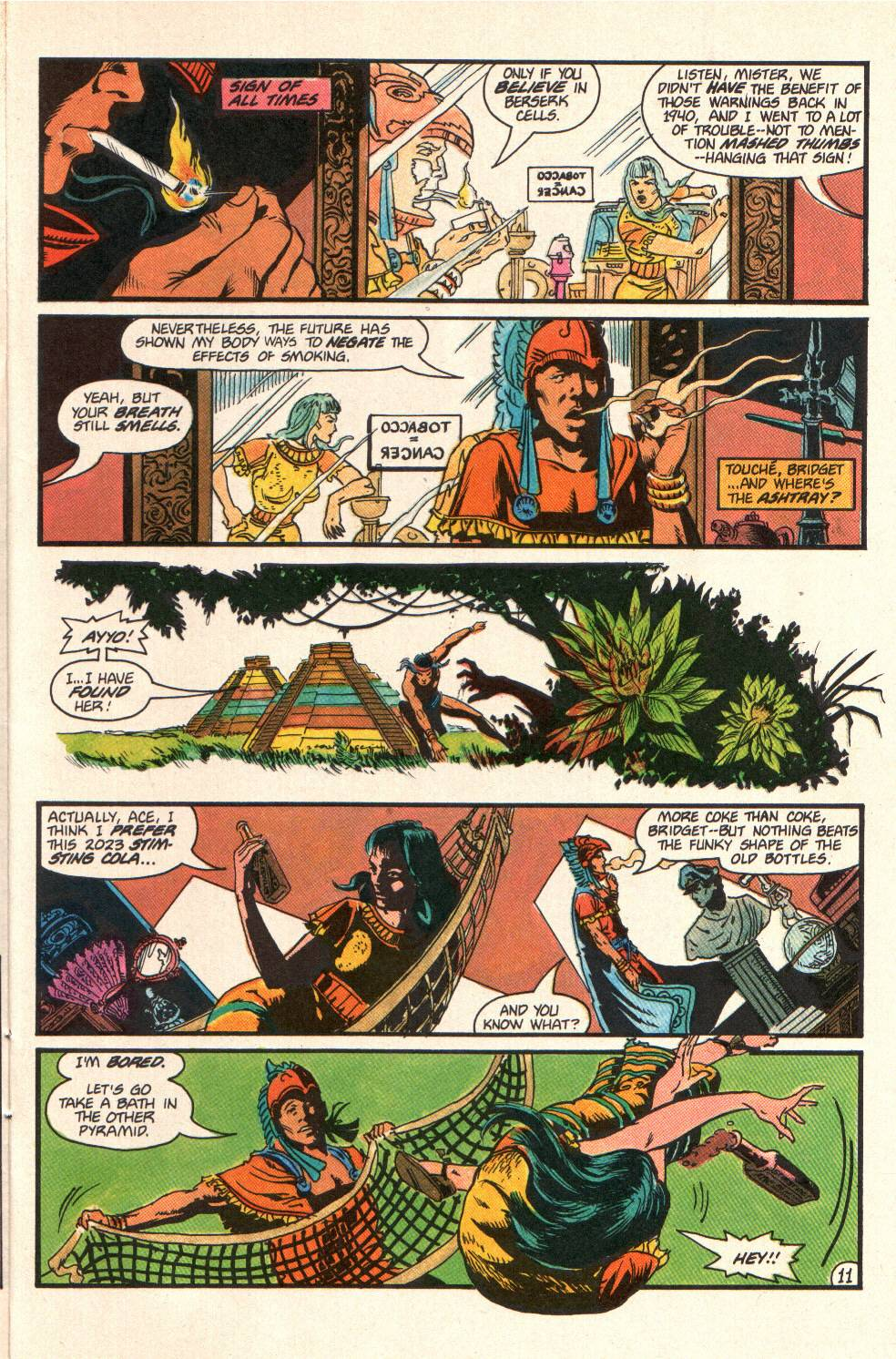 Read online Aztec Ace comic -  Issue #10 - 10