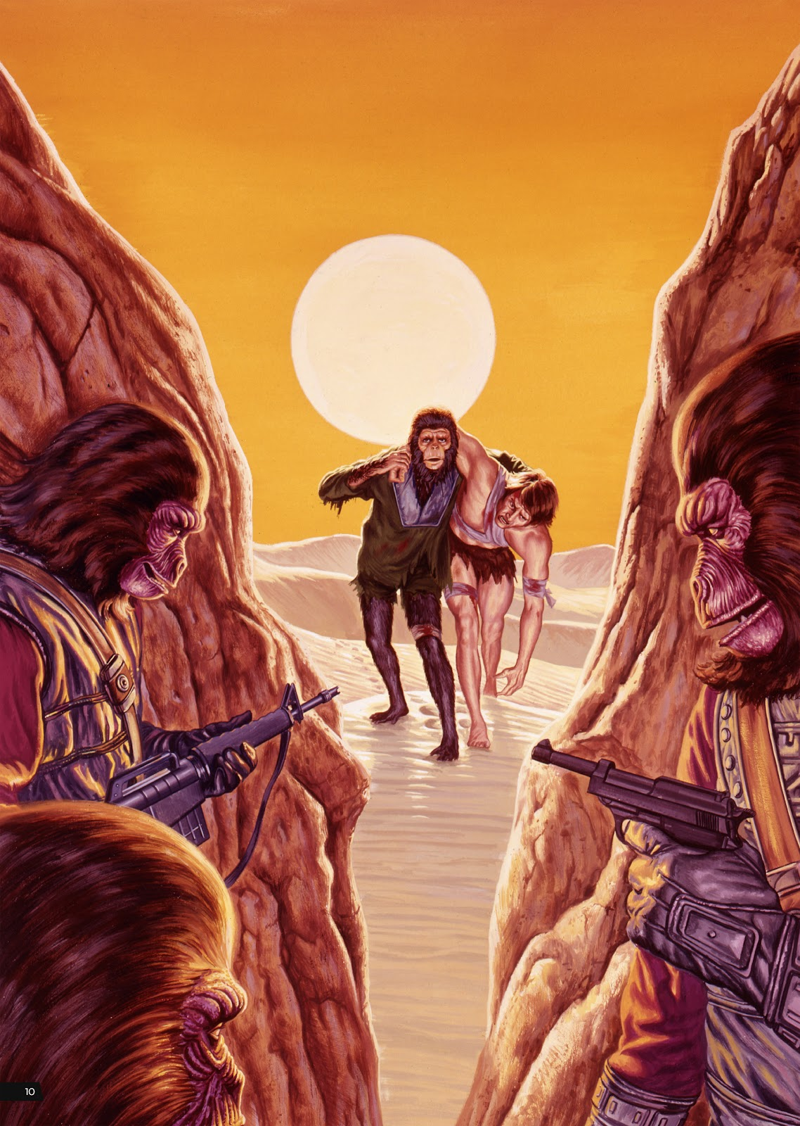 Read online Planet of the Apes Artist Tribute comic -  Issue # TPB - 10
