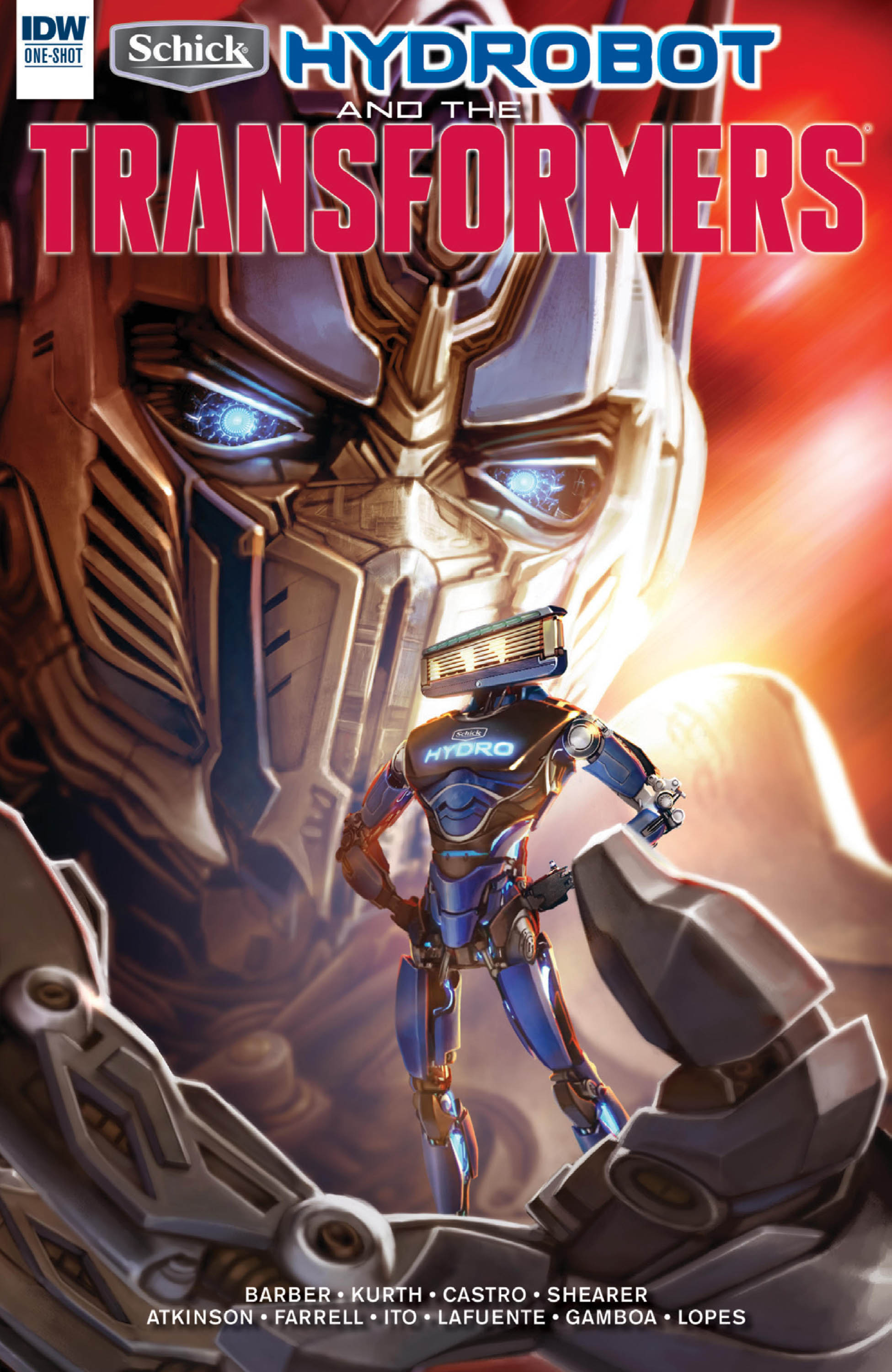 Schick Hydrobot & the Transformers: A New Friend Full Page 1