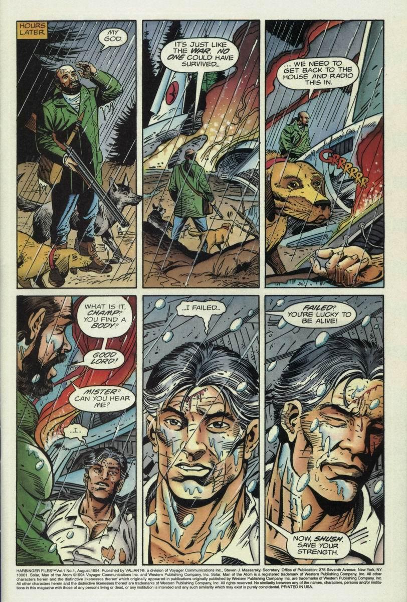 Read online Harbinger Files comic -  Issue #1 - 4