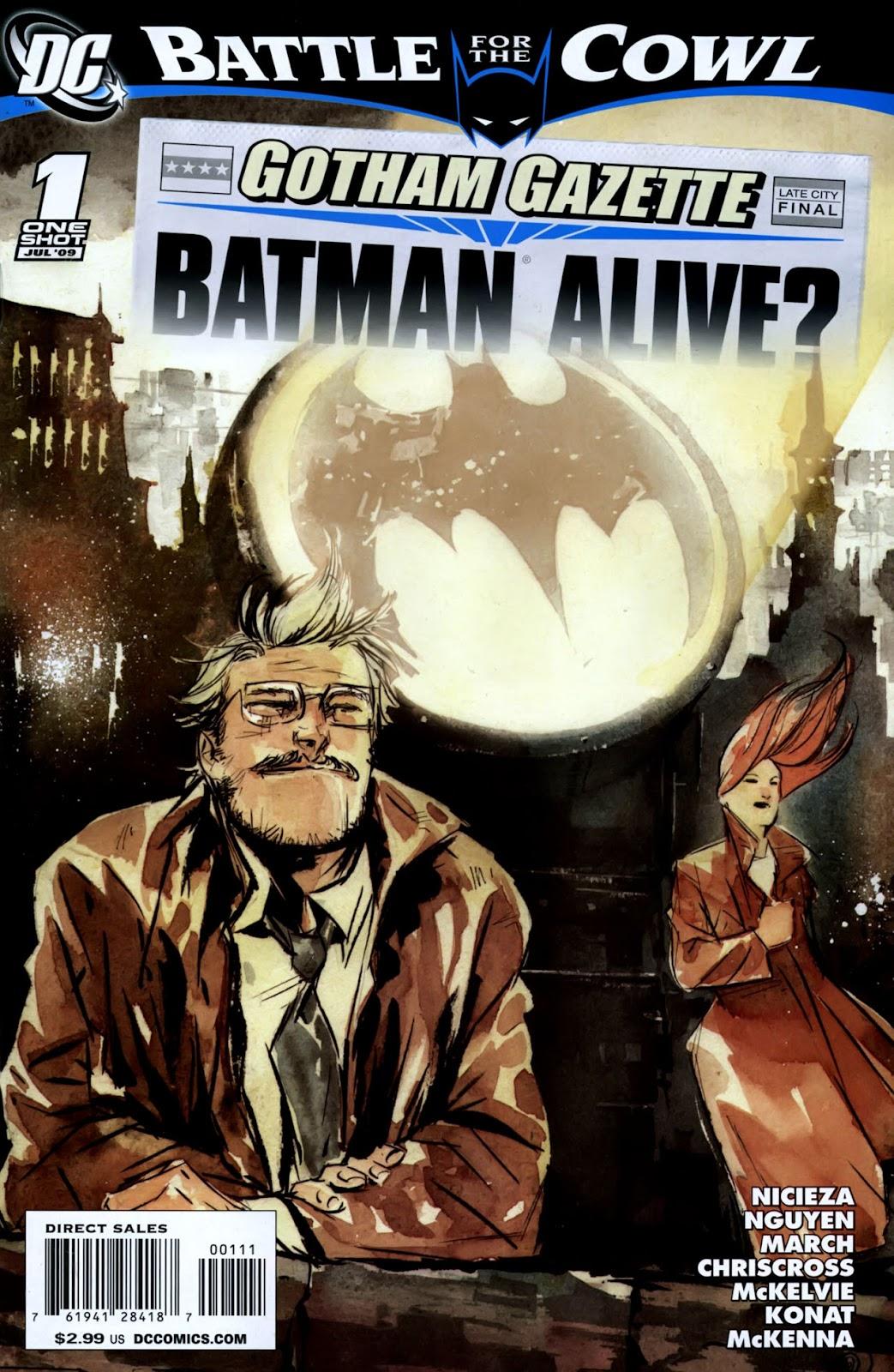 Gotham Gazette issue Issue Batman Alive - Page 1
