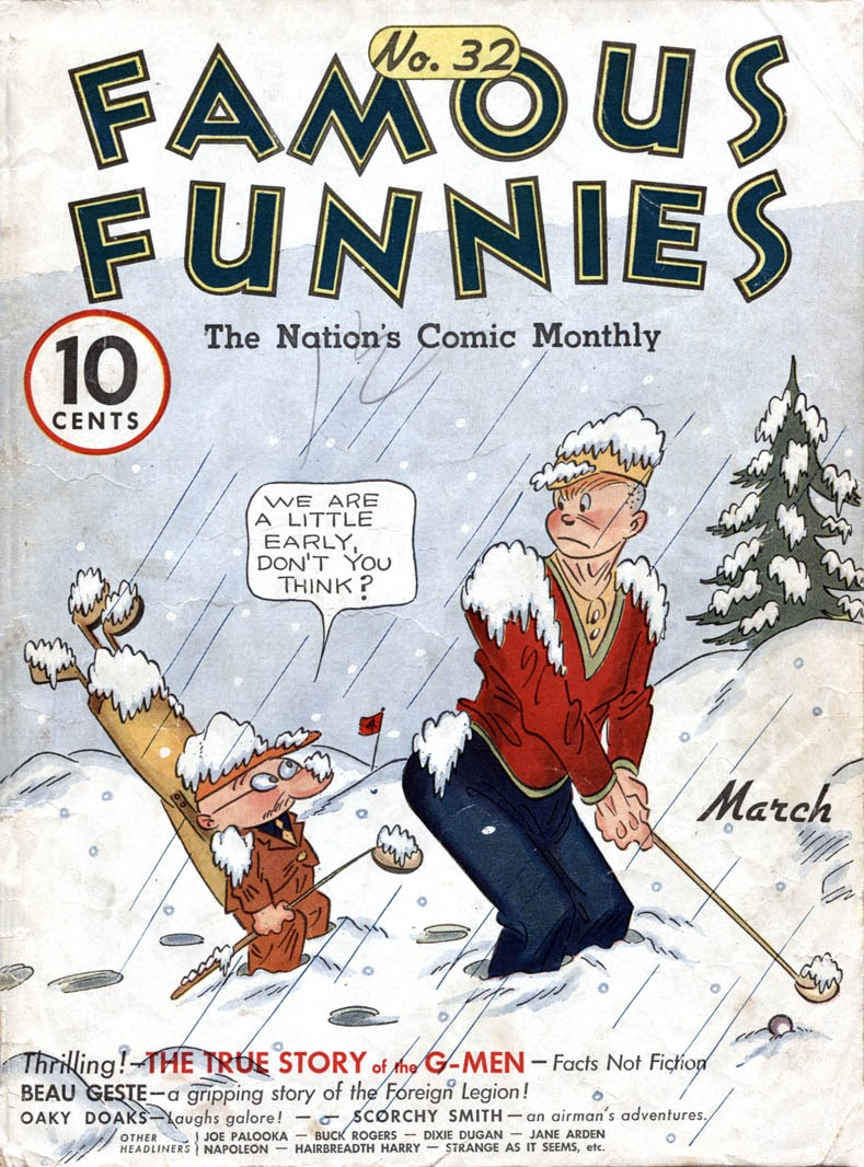 Read online Famous Funnies comic -  Issue #32 - 1