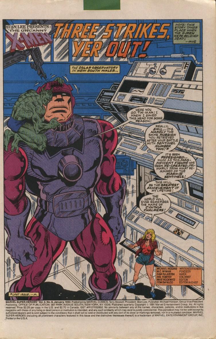 Marvel Super-Heroes (1990) 8 Page 2