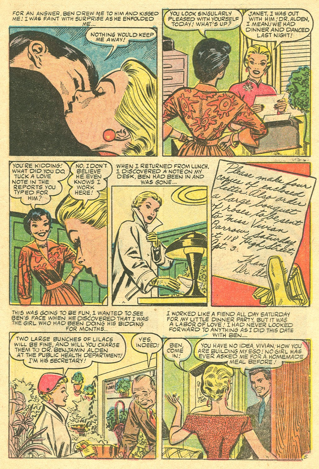 Love Romances (1949) issue 48 - Page 15