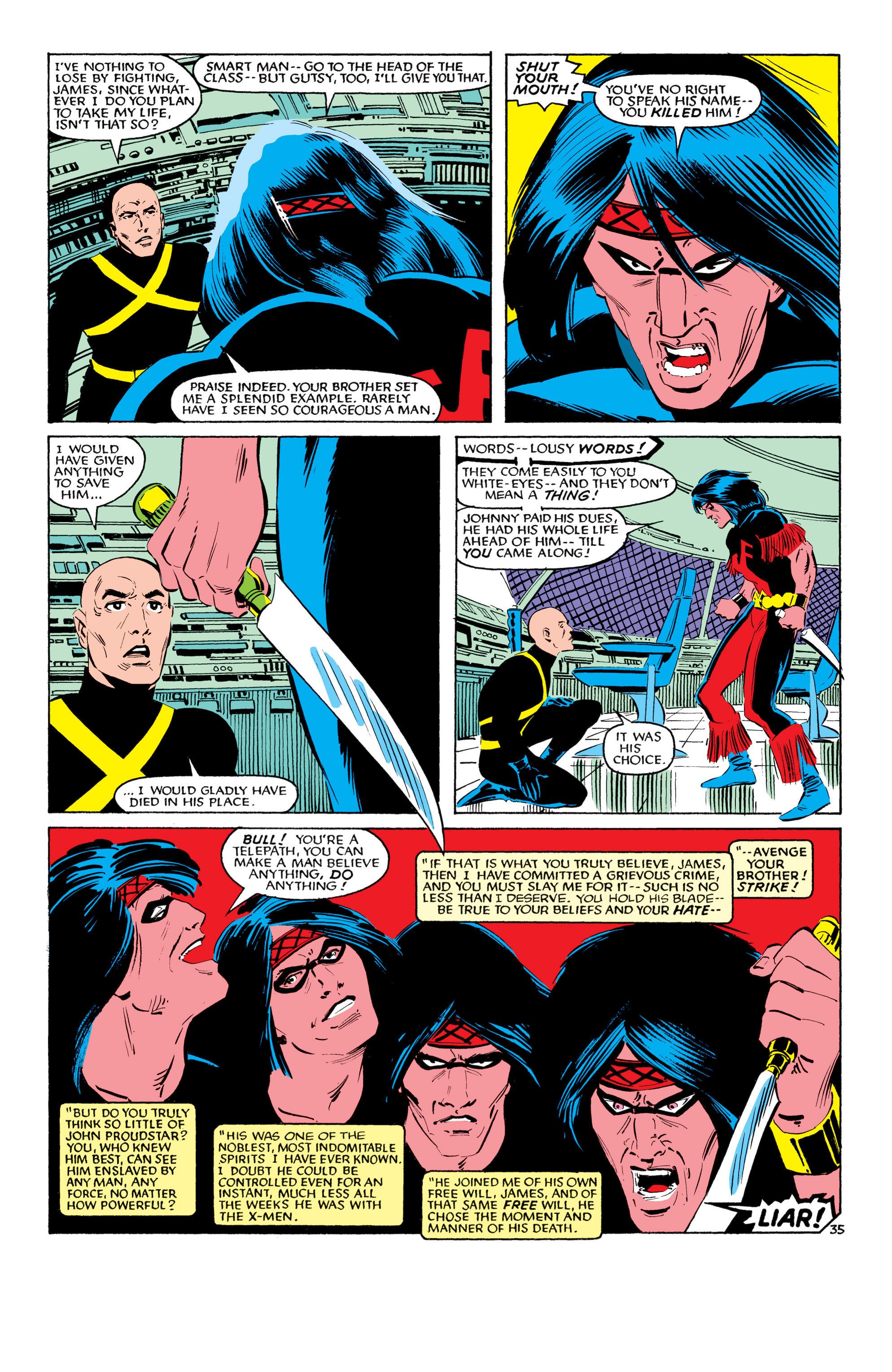 Read online Uncanny X-Men (1963) comic -  Issue #193 - 36
