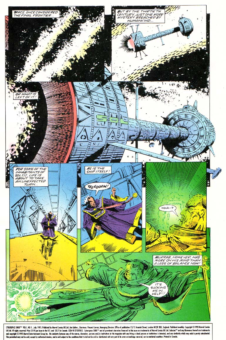 Read online Cyberspace 3000 comic -  Issue #1 - 2
