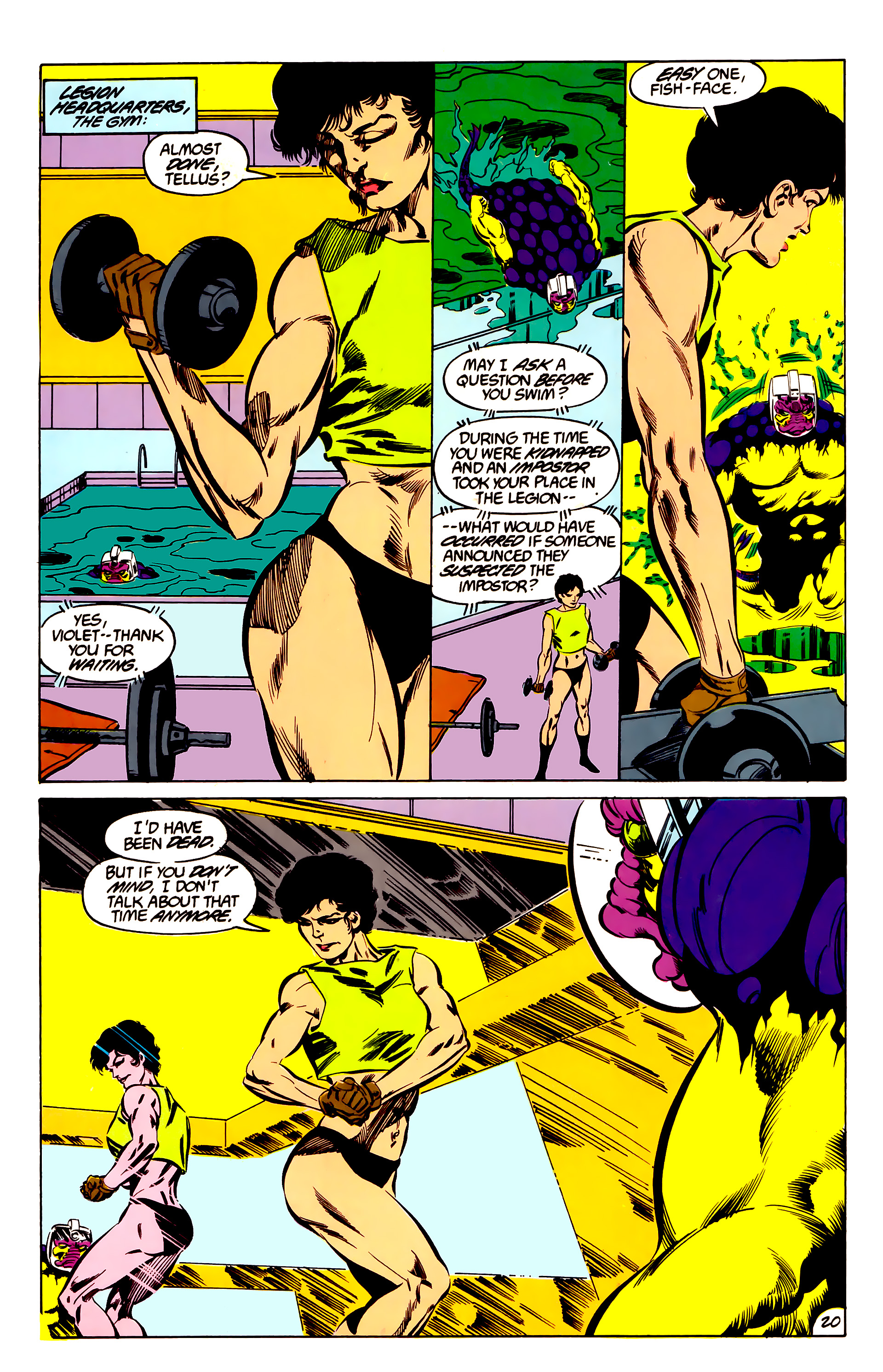 Legion of Super-Heroes (1984) 47 Page 20