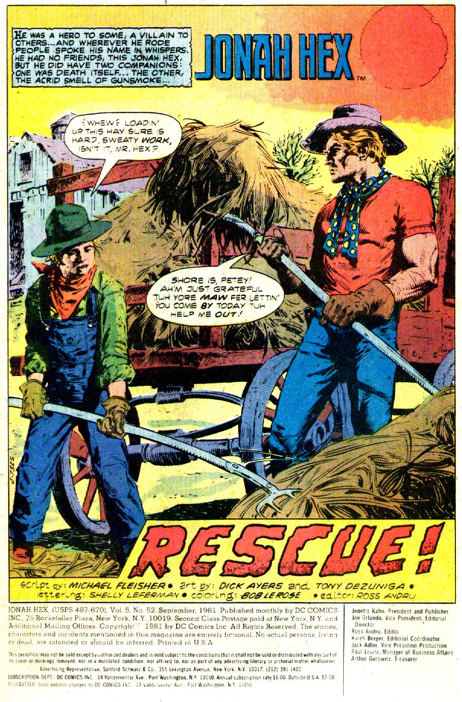 Jonah Hex (1977) 52 Page 2