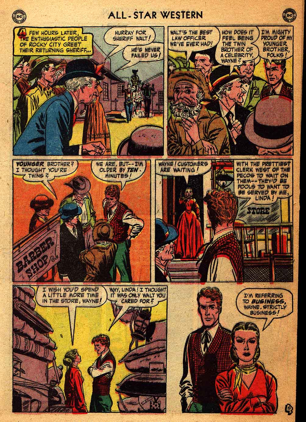 Read online All-Star Western (1951) comic -  Issue #58 - 7