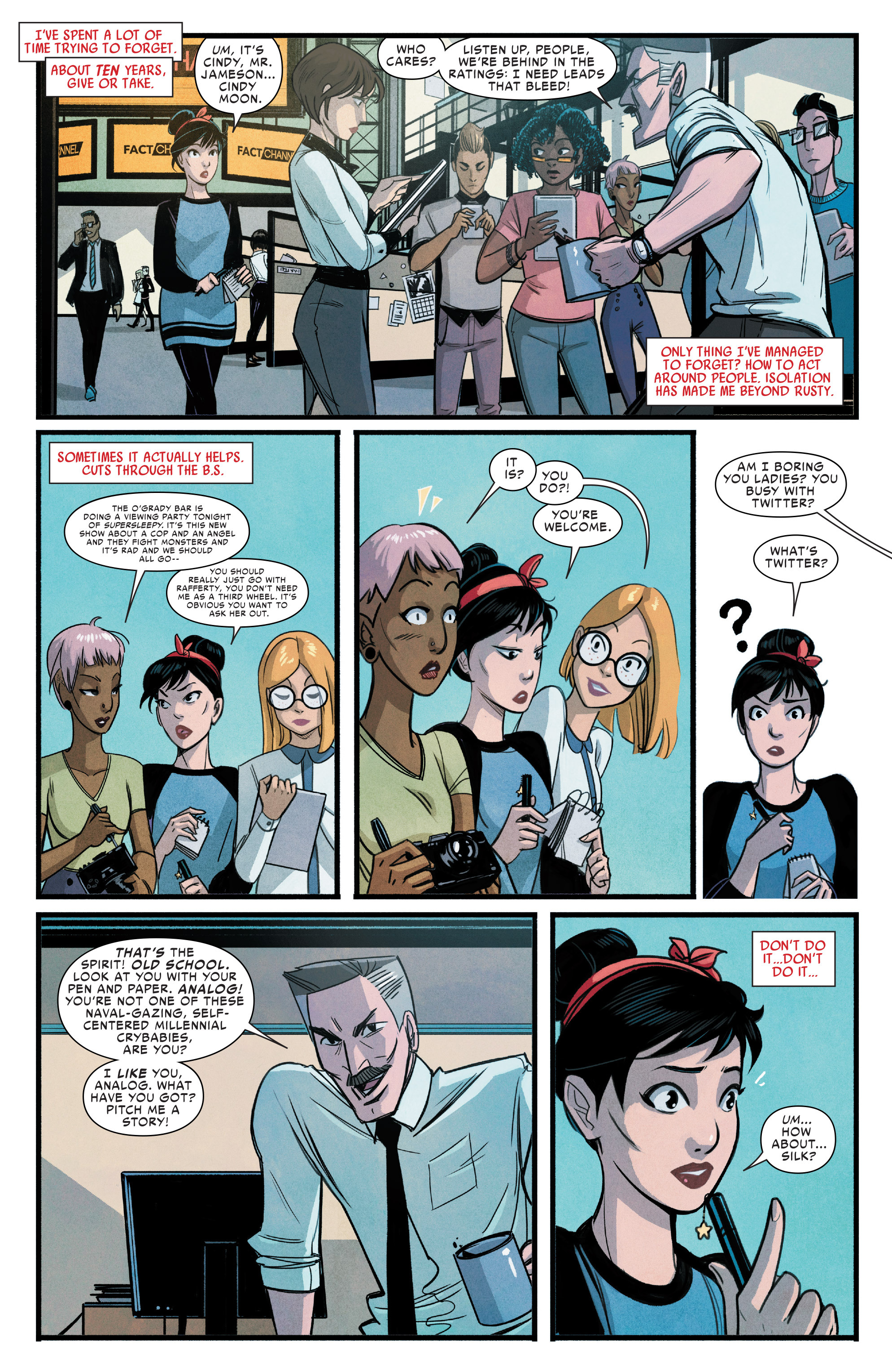 Read online Silk (2015) comic -  Issue #1 - 9