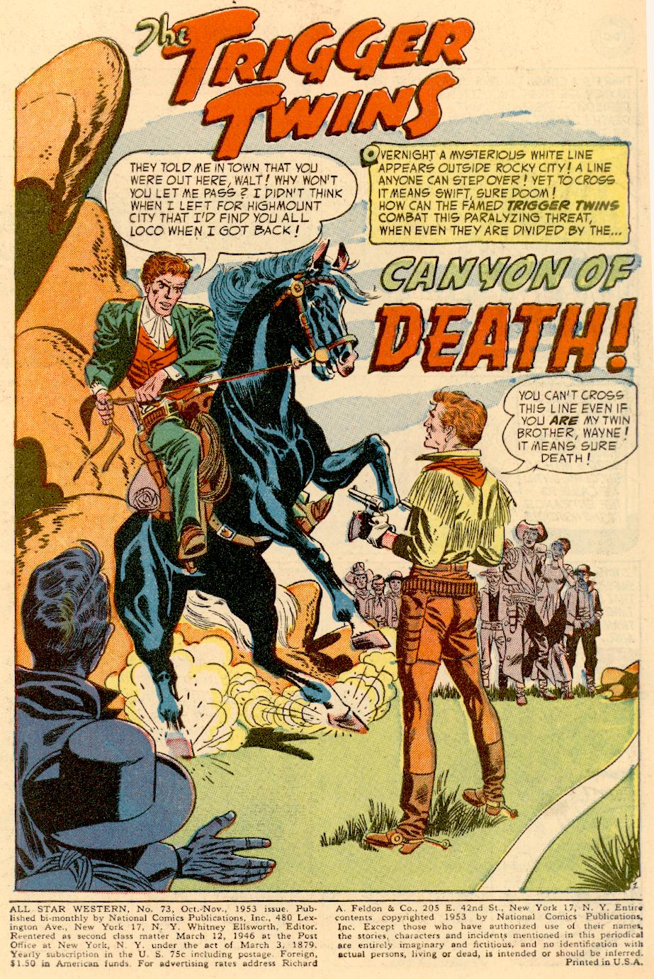 Read online All-Star Western (1951) comic -  Issue #73 - 3