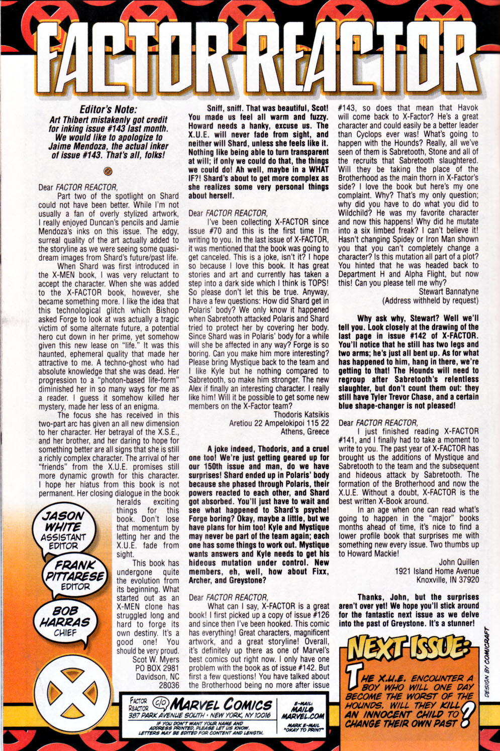 Read online X-Factor (1986) comic -  Issue #144 - 23