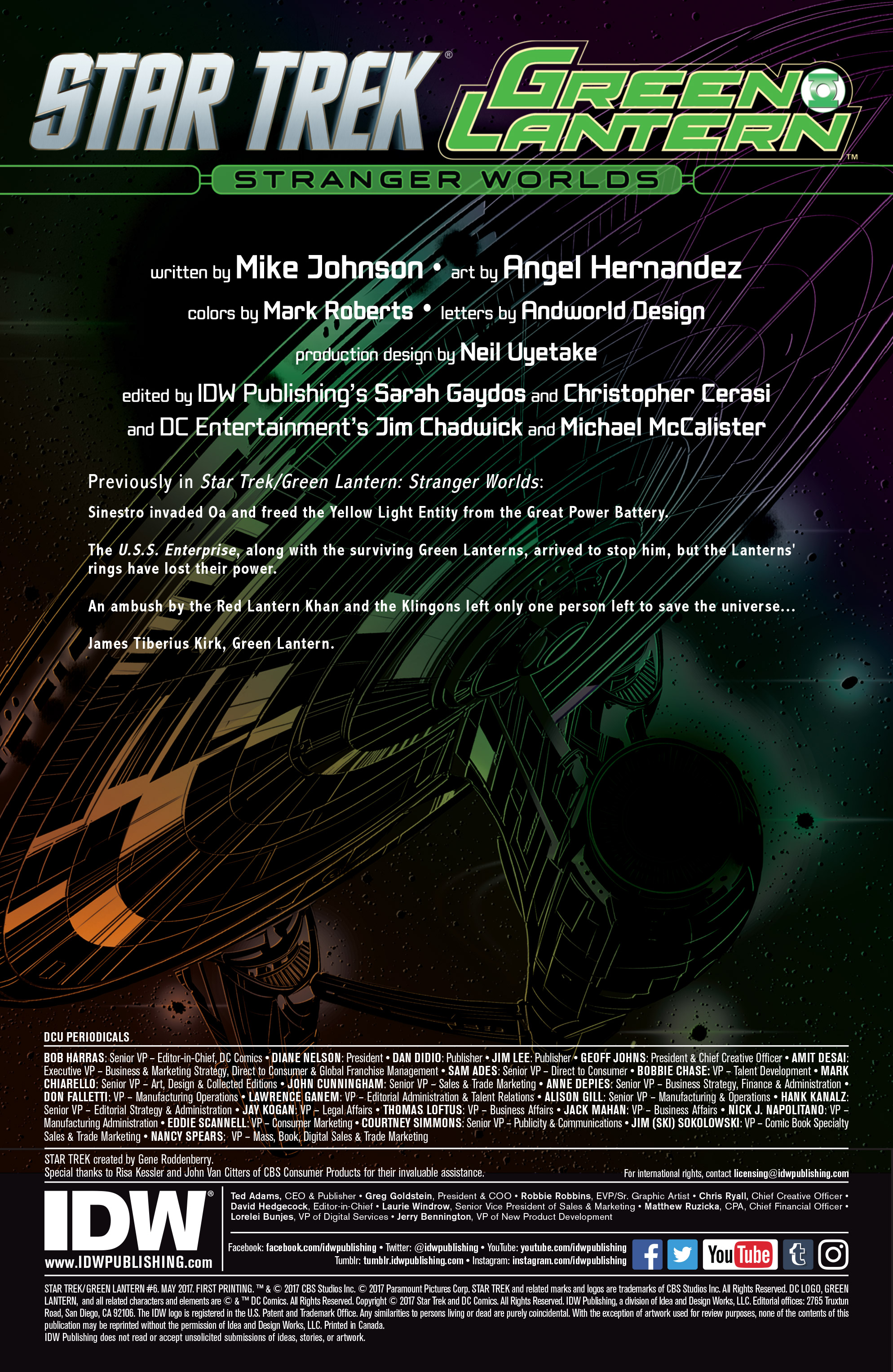 Read online Star Trek/Green Lantern (2016) comic -  Issue #6 - 2
