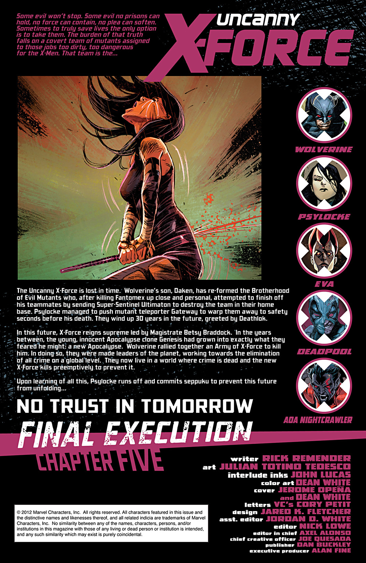 Read online Uncanny X-Force (2010) comic -  Issue #29 - 2