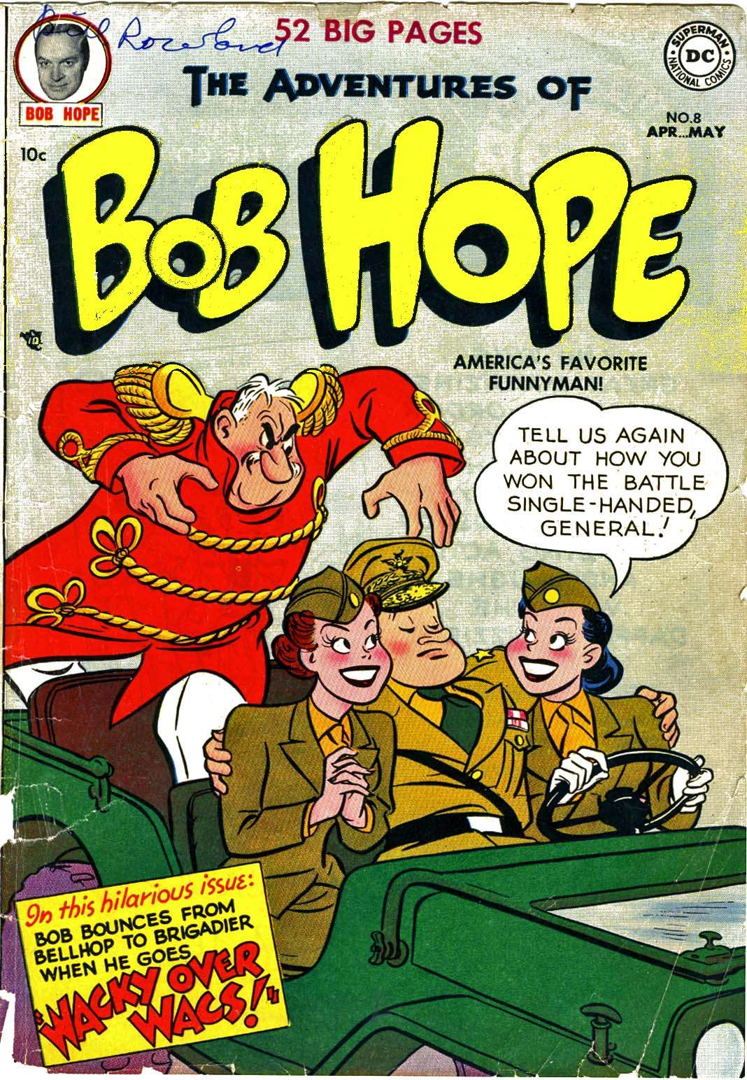 The Adventures of Bob Hope issue 8 - Page 1