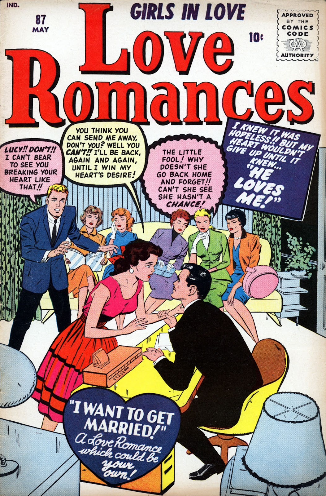 Love Romances (1949) issue 87 - Page 1