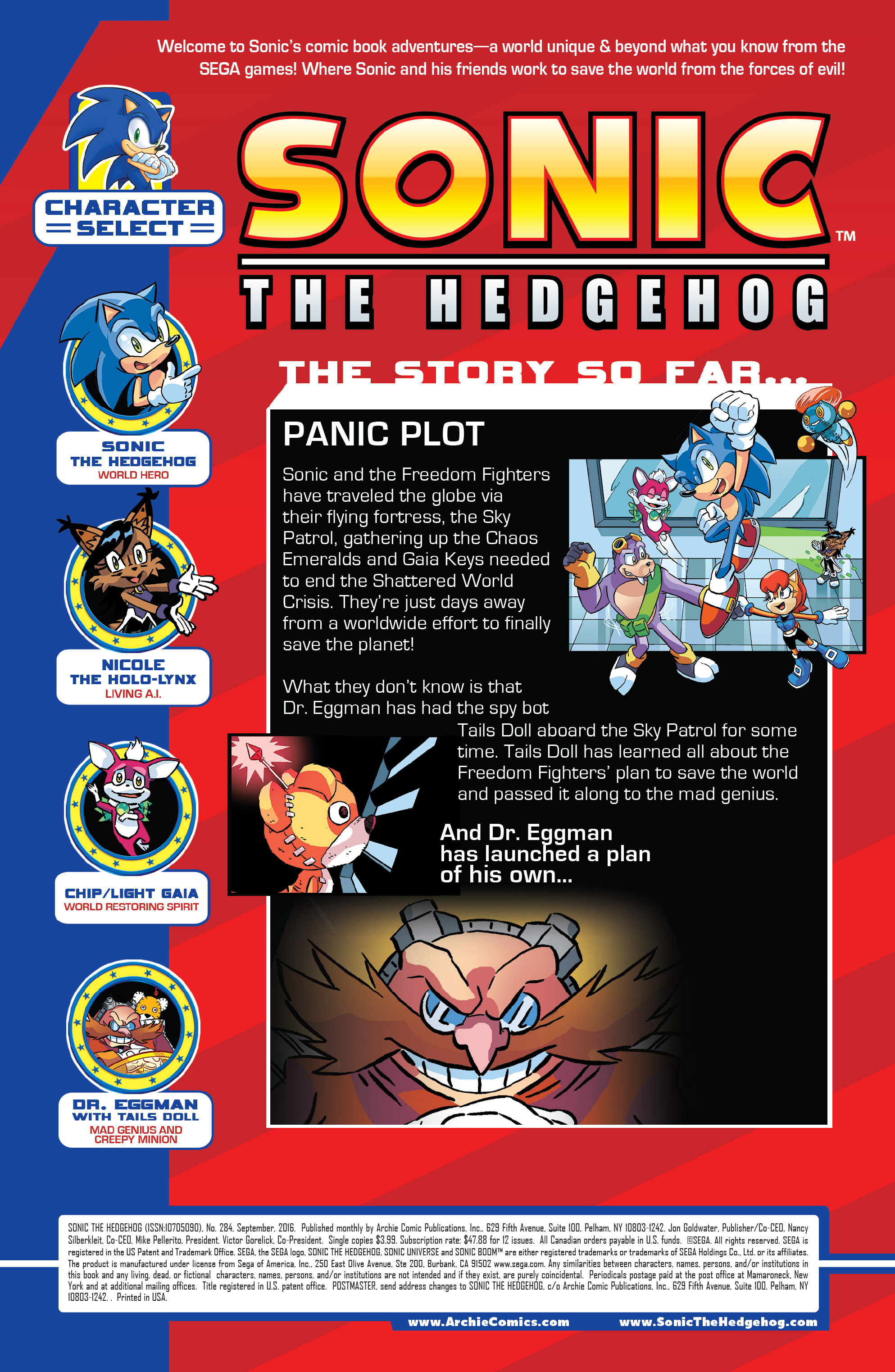 Read online Sonic The Hedgehog comic -  Issue #284 - 2